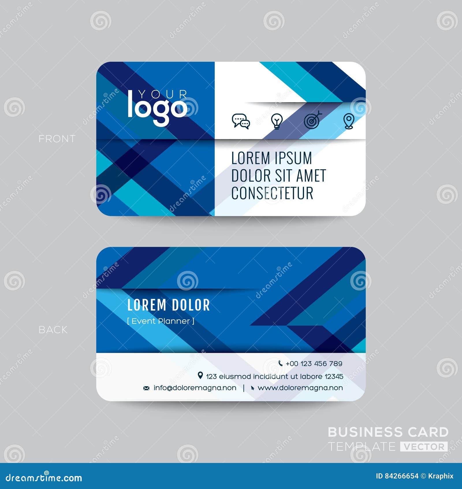 Linea diagonale blu progettazione di biglietto da visita