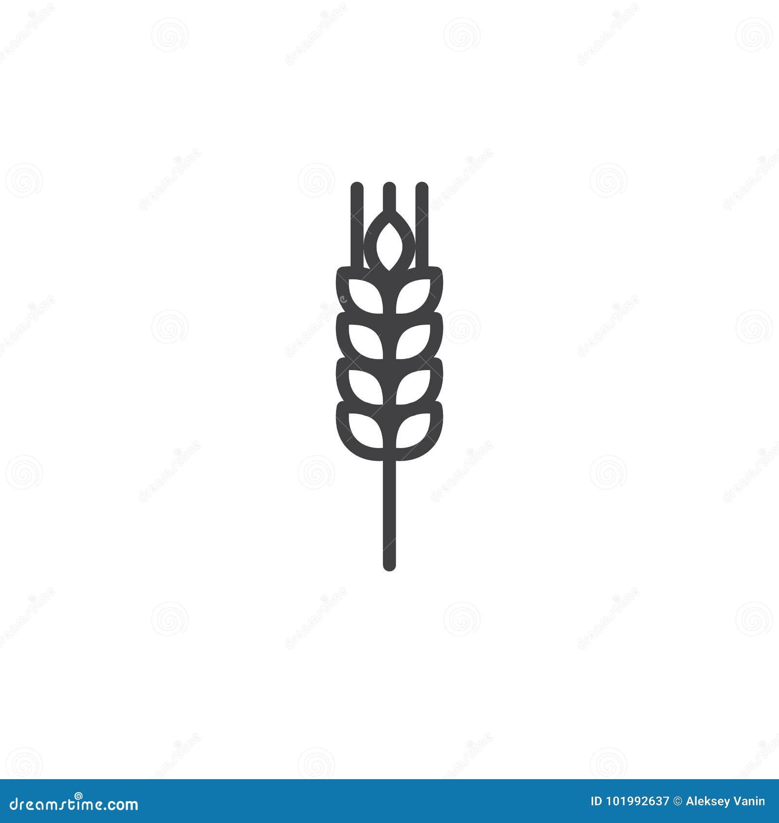 Linea icona del grano