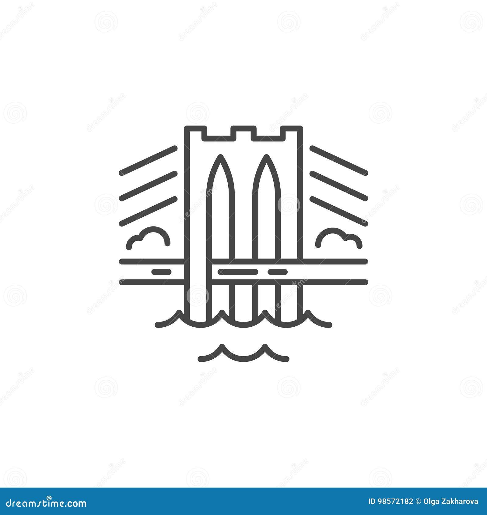 Linea icona del ponte