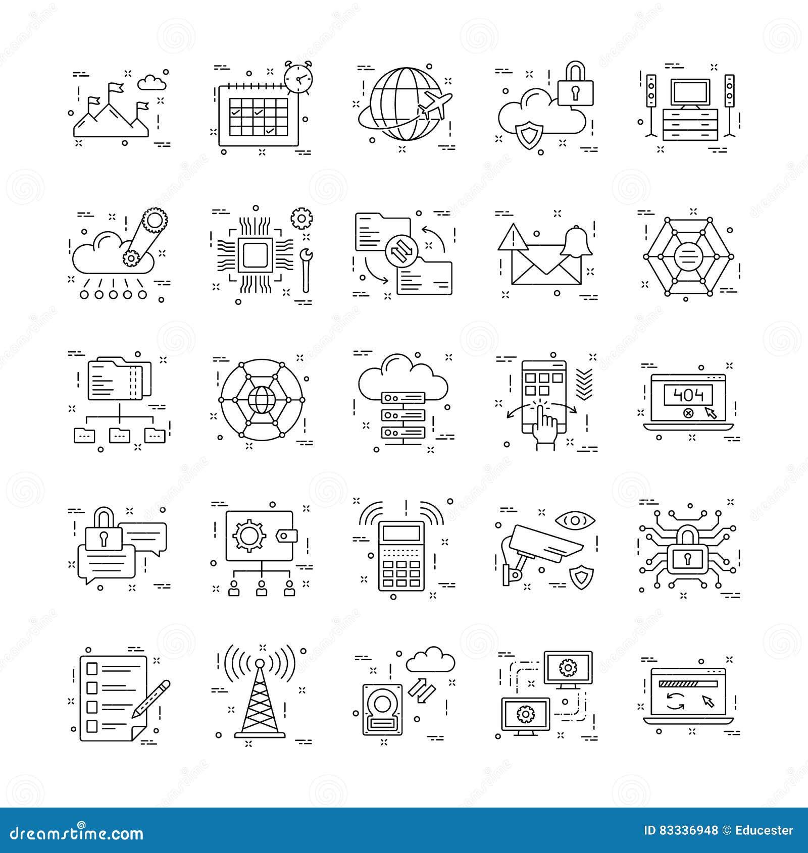Linea icone con il dettaglio 17