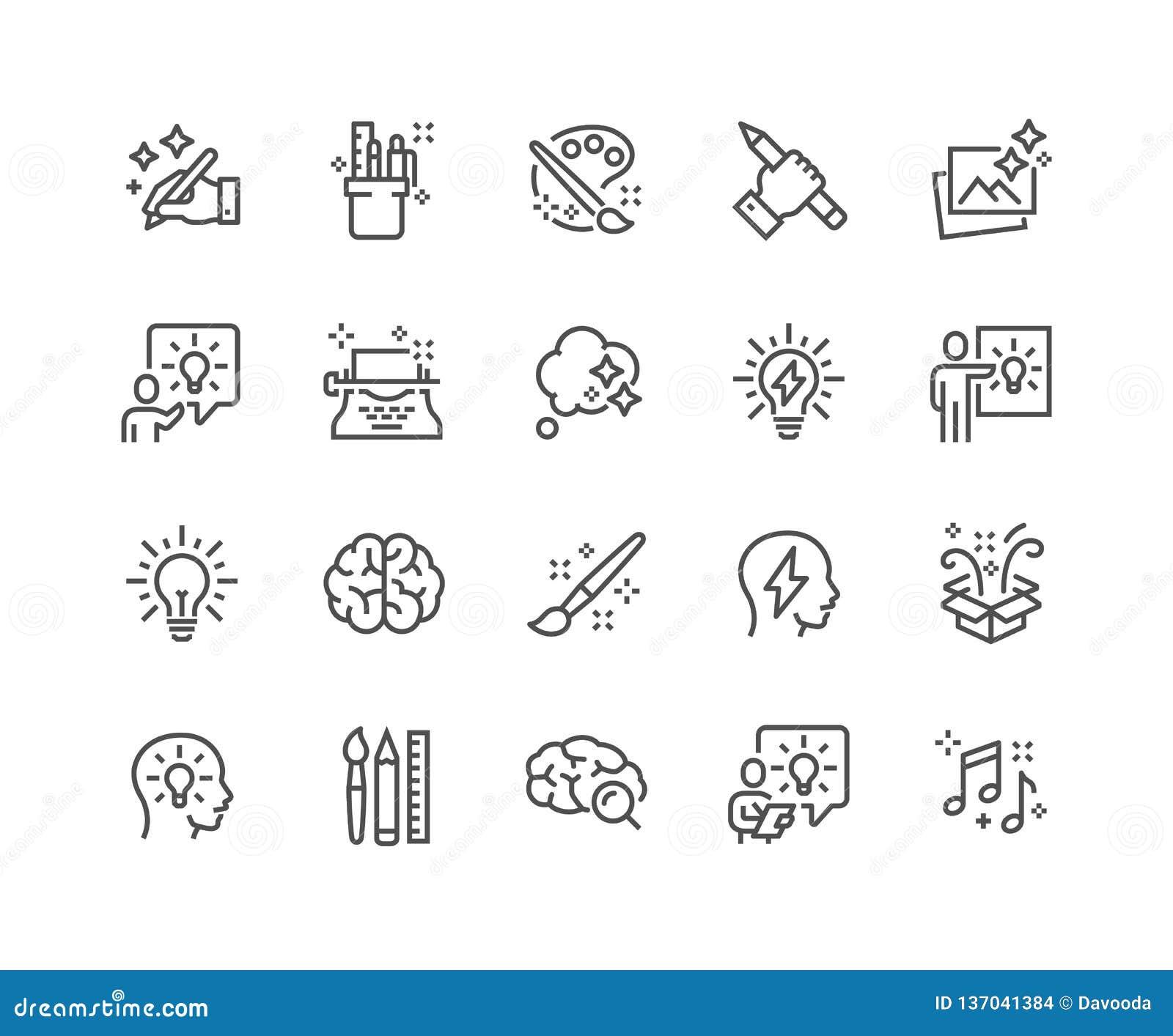 Linea icone di creatività