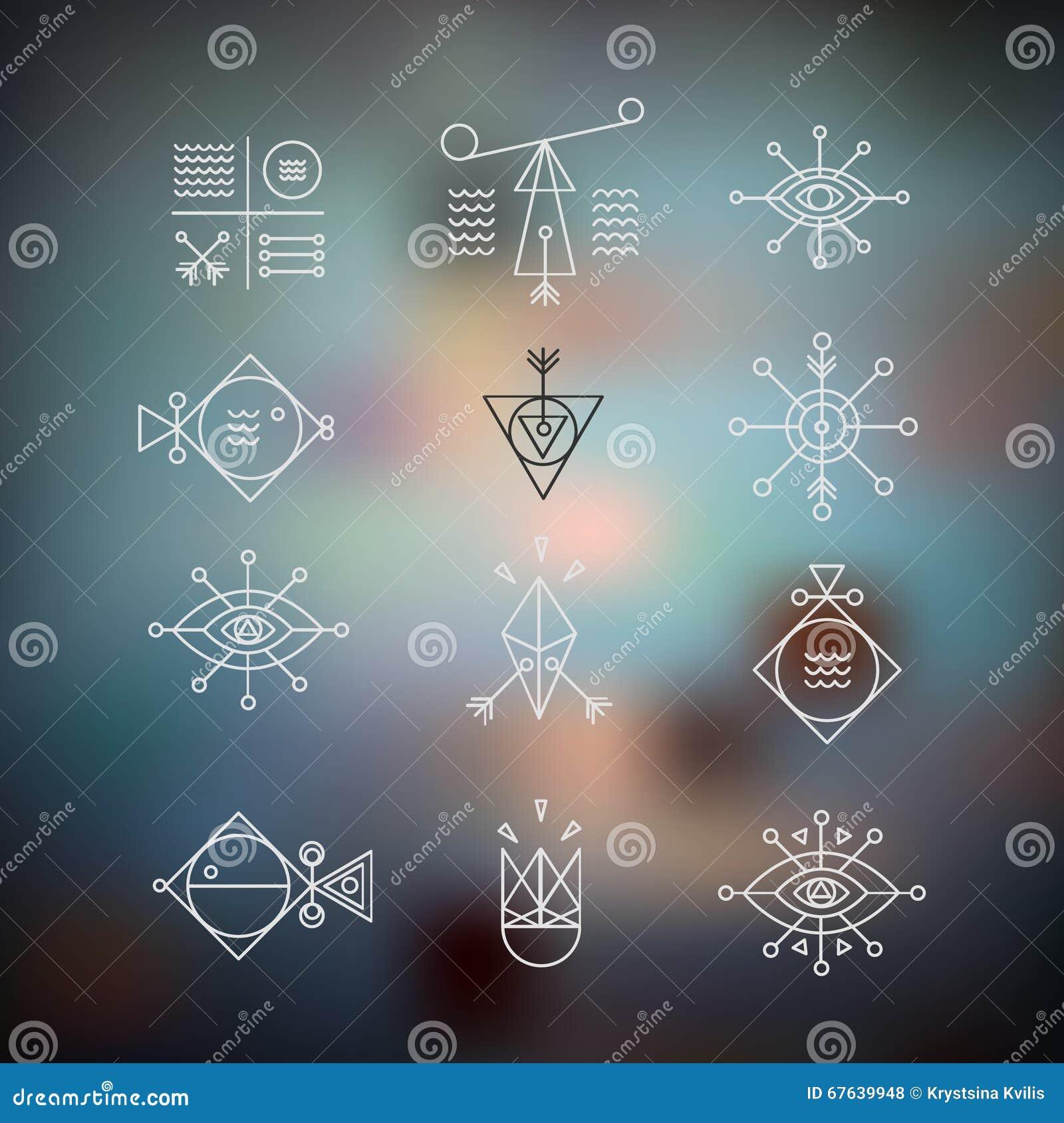 Linea la geometria di forme Alchemia, religione, filosofia, spiritualit