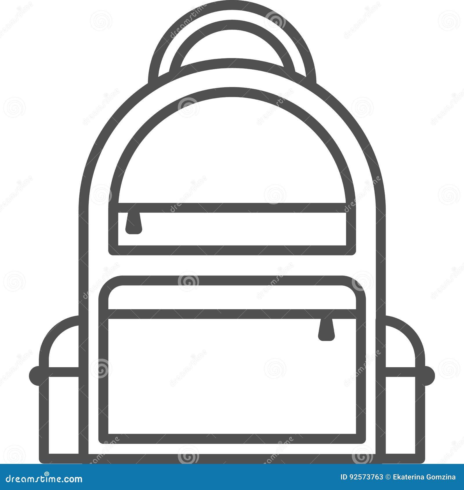 Linea semplice icona di hobby ed artistica di vettoredel artBorsa per le cose preoccupantesi Linea icona di stile di arte pixe