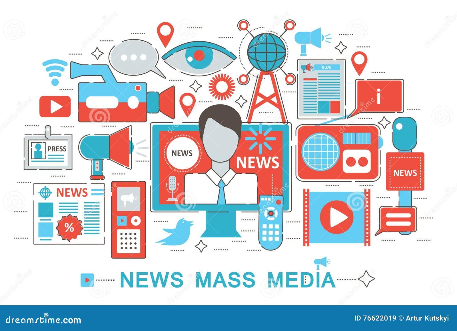 Linea sottile piana moderna concetto di mass media di for Sito web per la progettazione di mobili