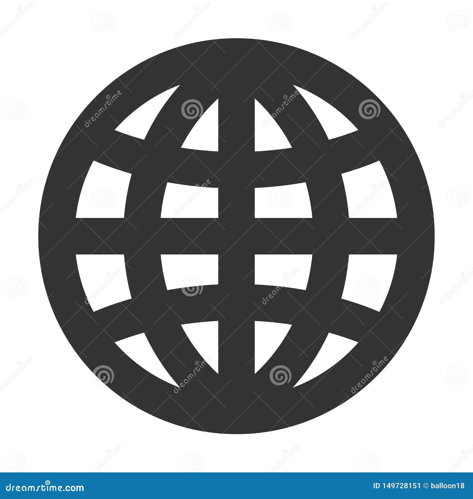 Linea spessa icona del globo