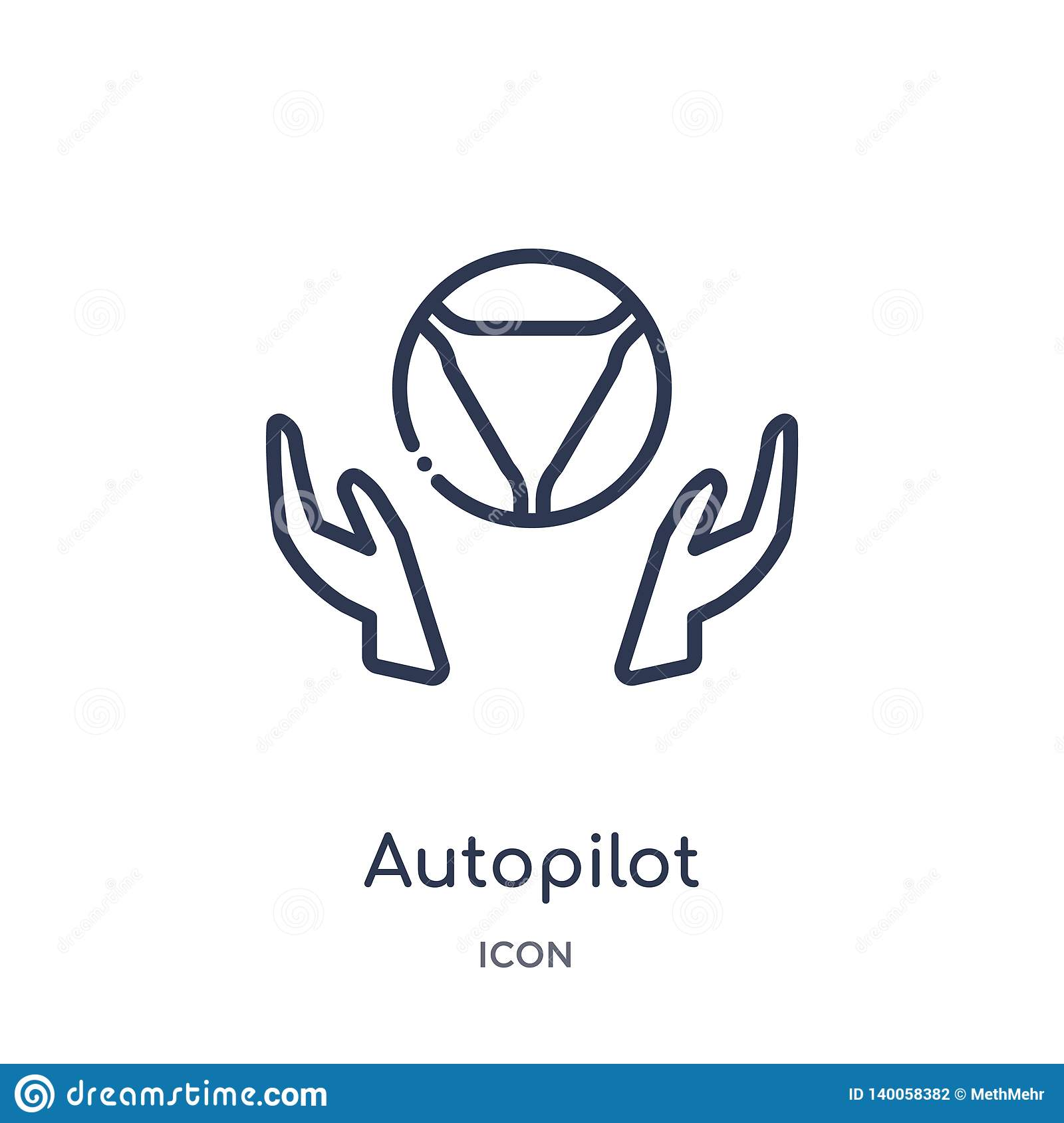 Linear autopilot icon from General outline collection. Thin line autopilot icon isolated on white background. autopilot trendy