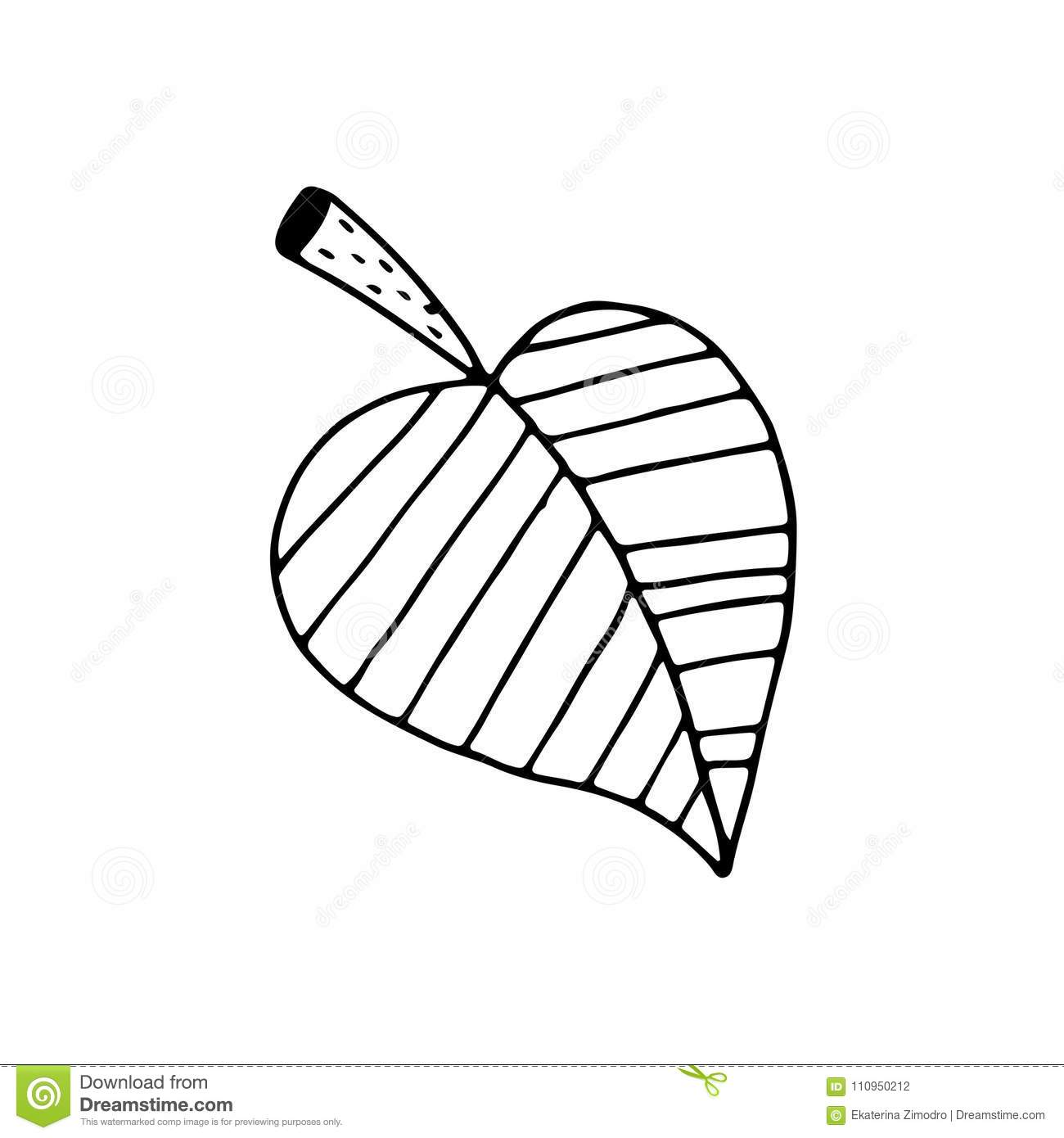 Leaf Clipart Black And White Cute