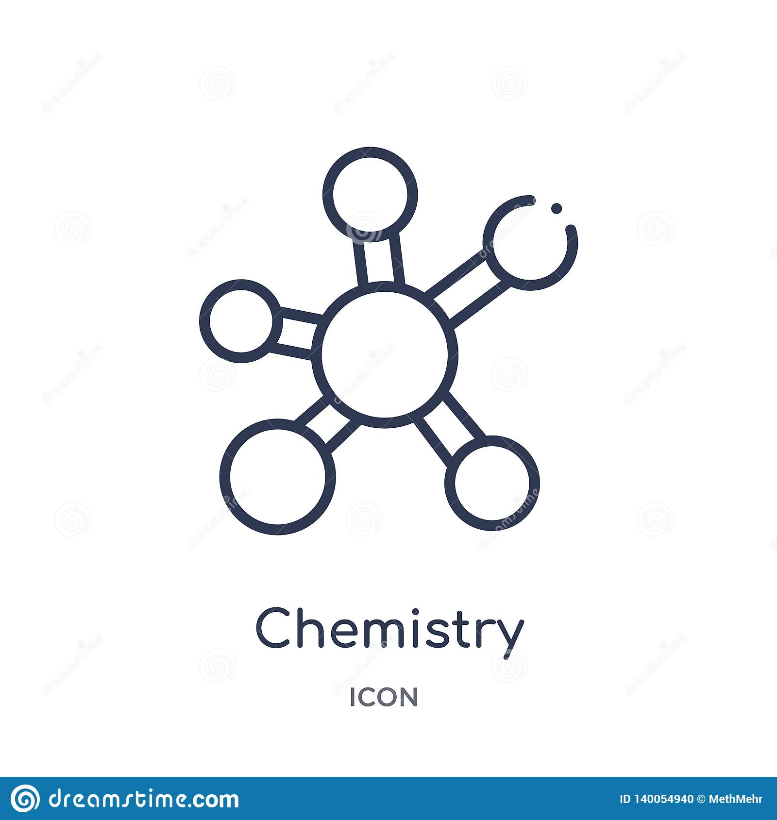 Linear chemistry icon from Education outline collection. Thin line chemistry vector isolated on white background. chemistry trendy