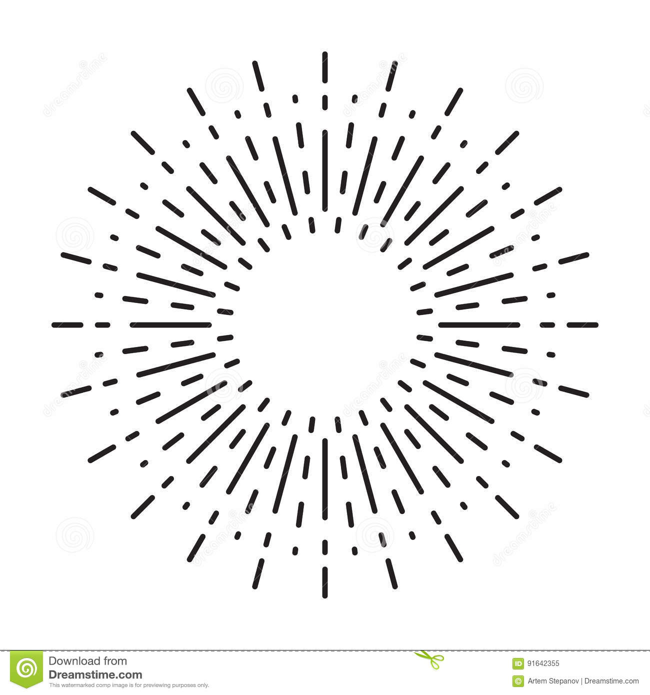 Linear Drawing Of Vintage Sunbursts Or Light Rays In Hipster Style ... for Vector Light Rays Vintage  59nar