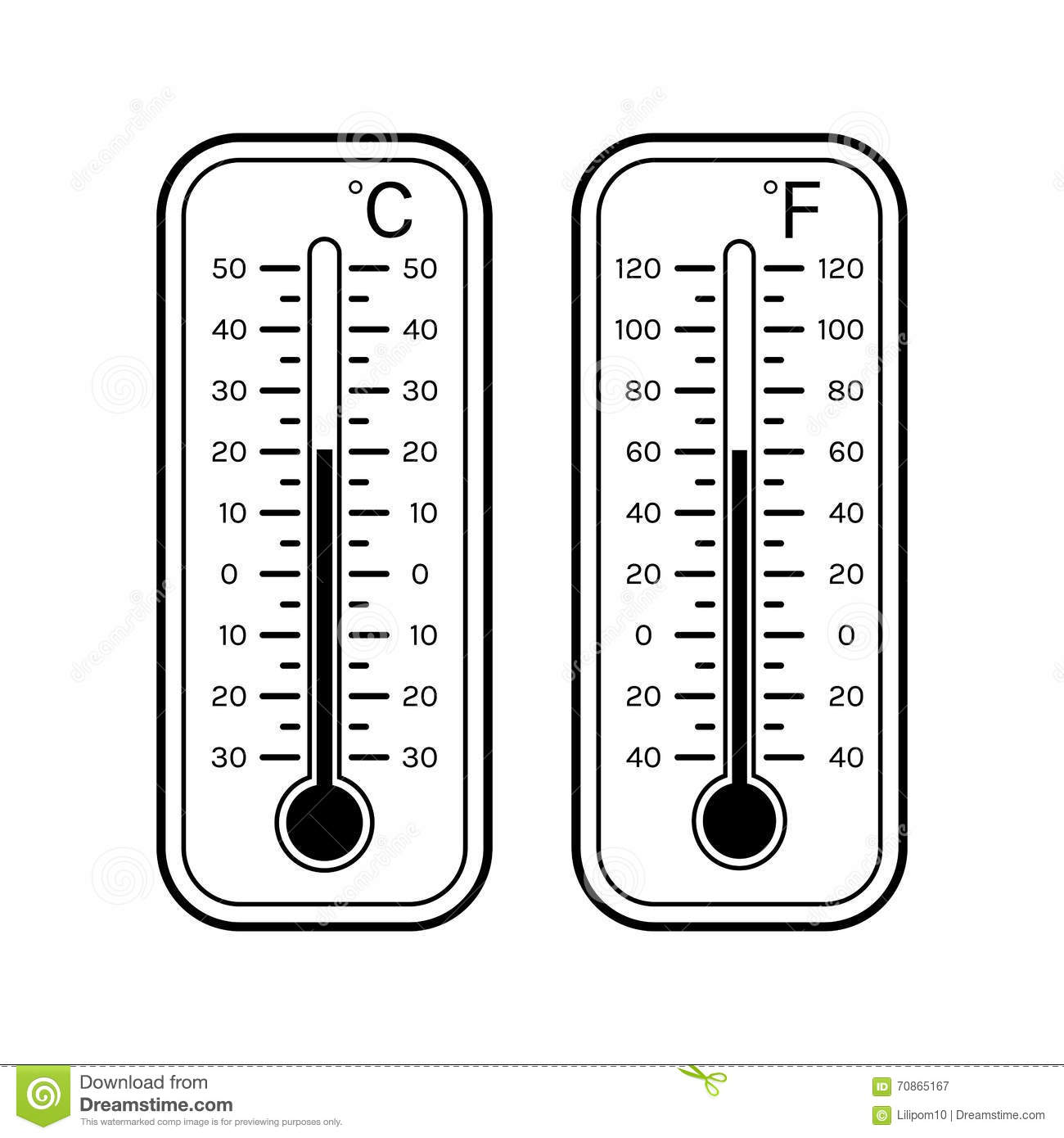 Weather Thermometer Clip Art Black and White