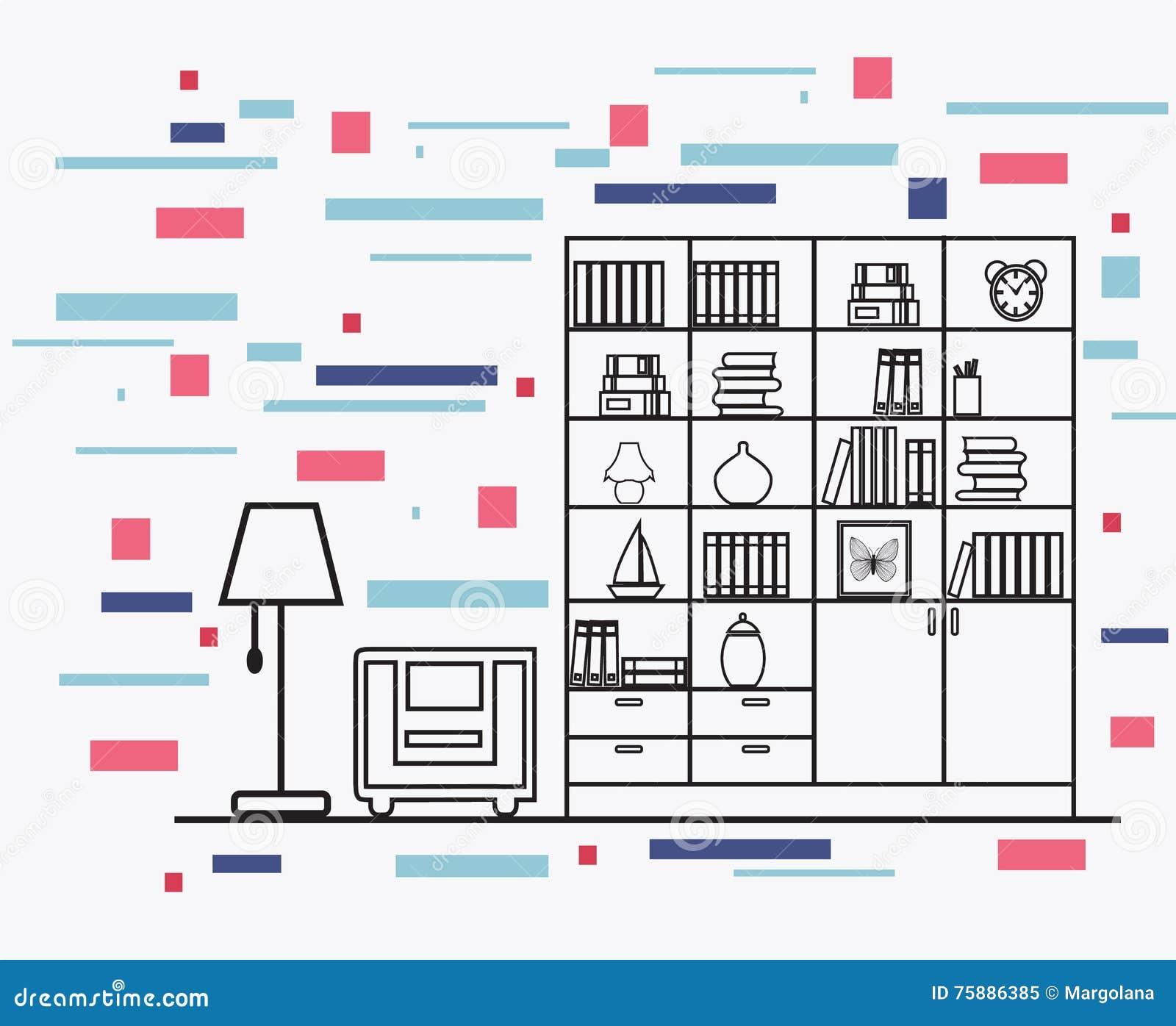 Rc Furniture Interior Design Stock Dealer ~ Furniture cartoons illustrations vector stock images