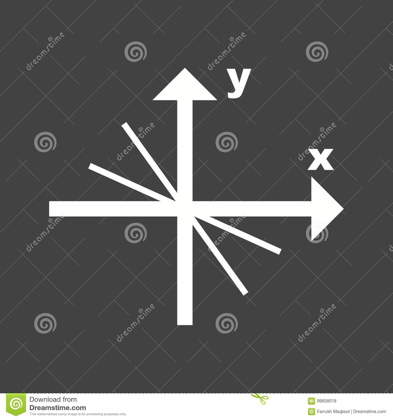 Linear Function stock vector  Illustration of solution - 99658018
