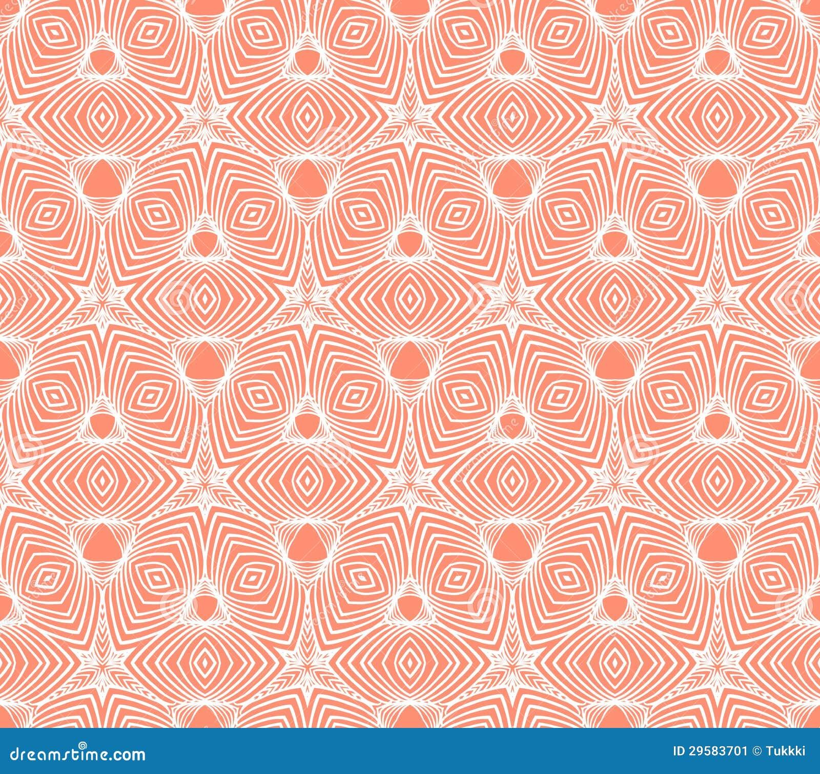 Linear Geometric Pattern 50s Wallpaper Design Stock Vector