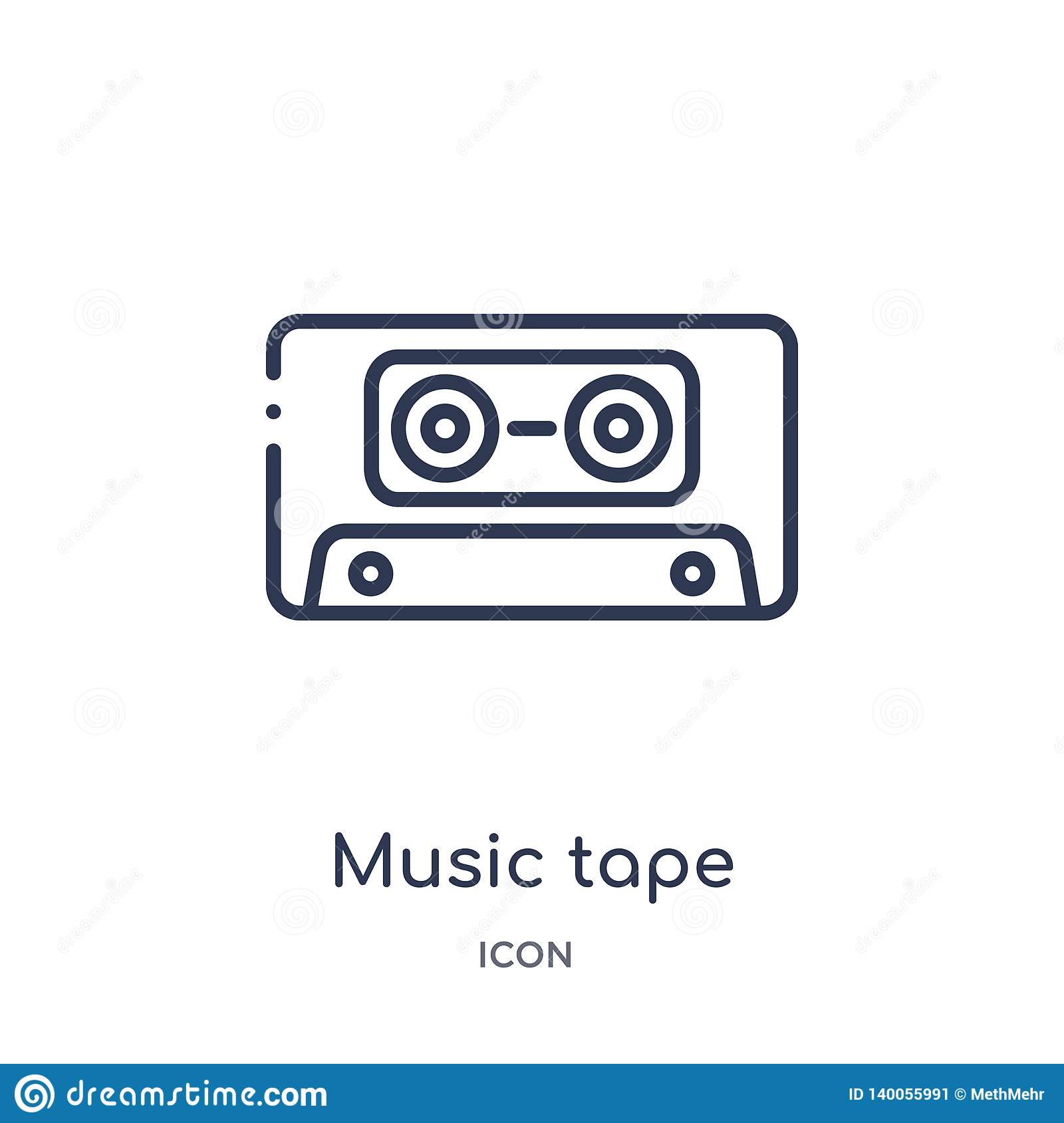 Linear Music Tape Icon From Entertainment And Arcade Outline