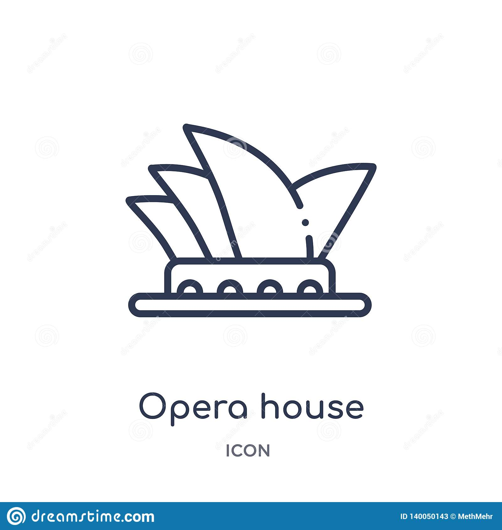 linear opera house icon buildings outline collection thin line vector isolated white background trendy illustration 140050143 - 37+ Outline Picture Of Sydney Opera House  Images