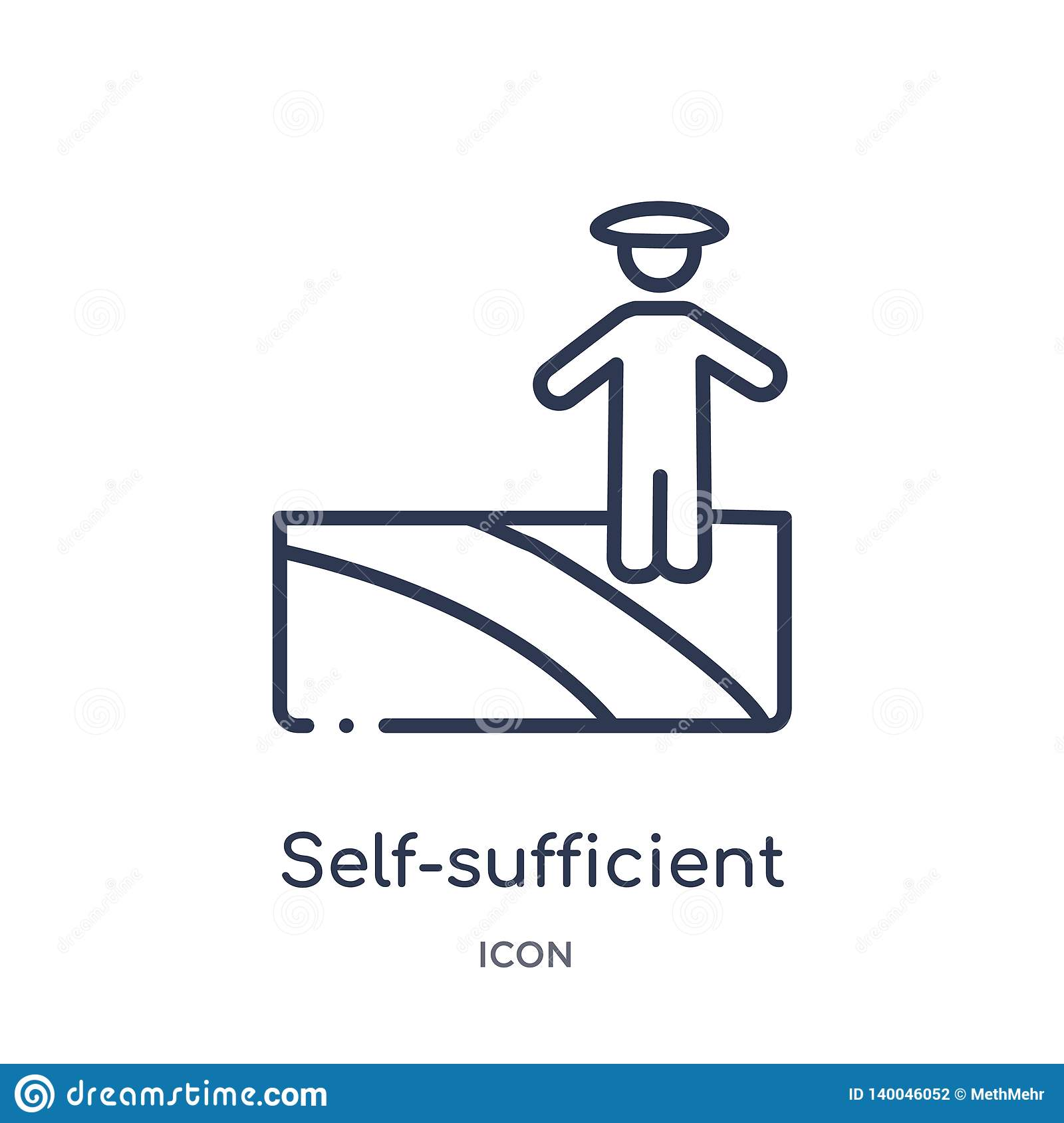 Linear self-sufficient icon from Agriculture farming and gardening outline collection. Thin line self-sufficient vector isolated