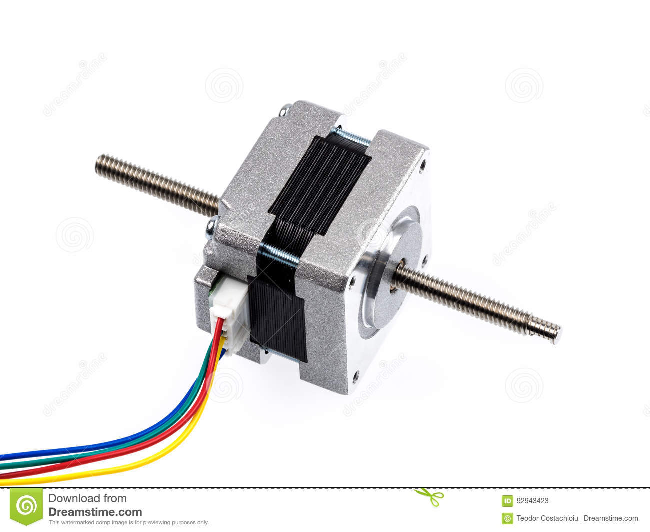 Linear stepper motor actuator royalty free stock photo for Linear actuator stepper motor driven