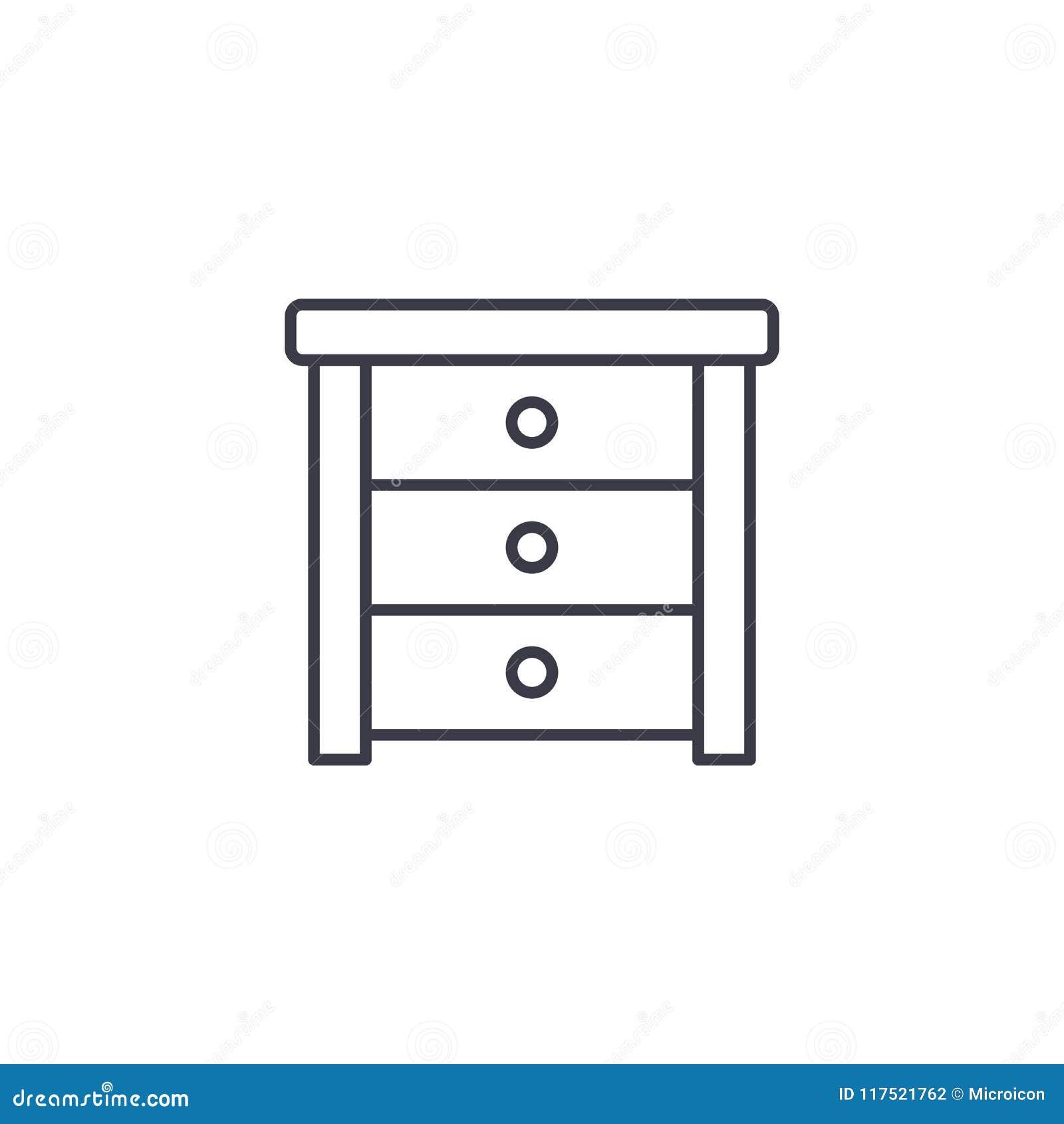 Lineares Ikonenkonzept der Seitentabelle Seitentabellenlinie Vektorzeichen, Symbol, Illustration