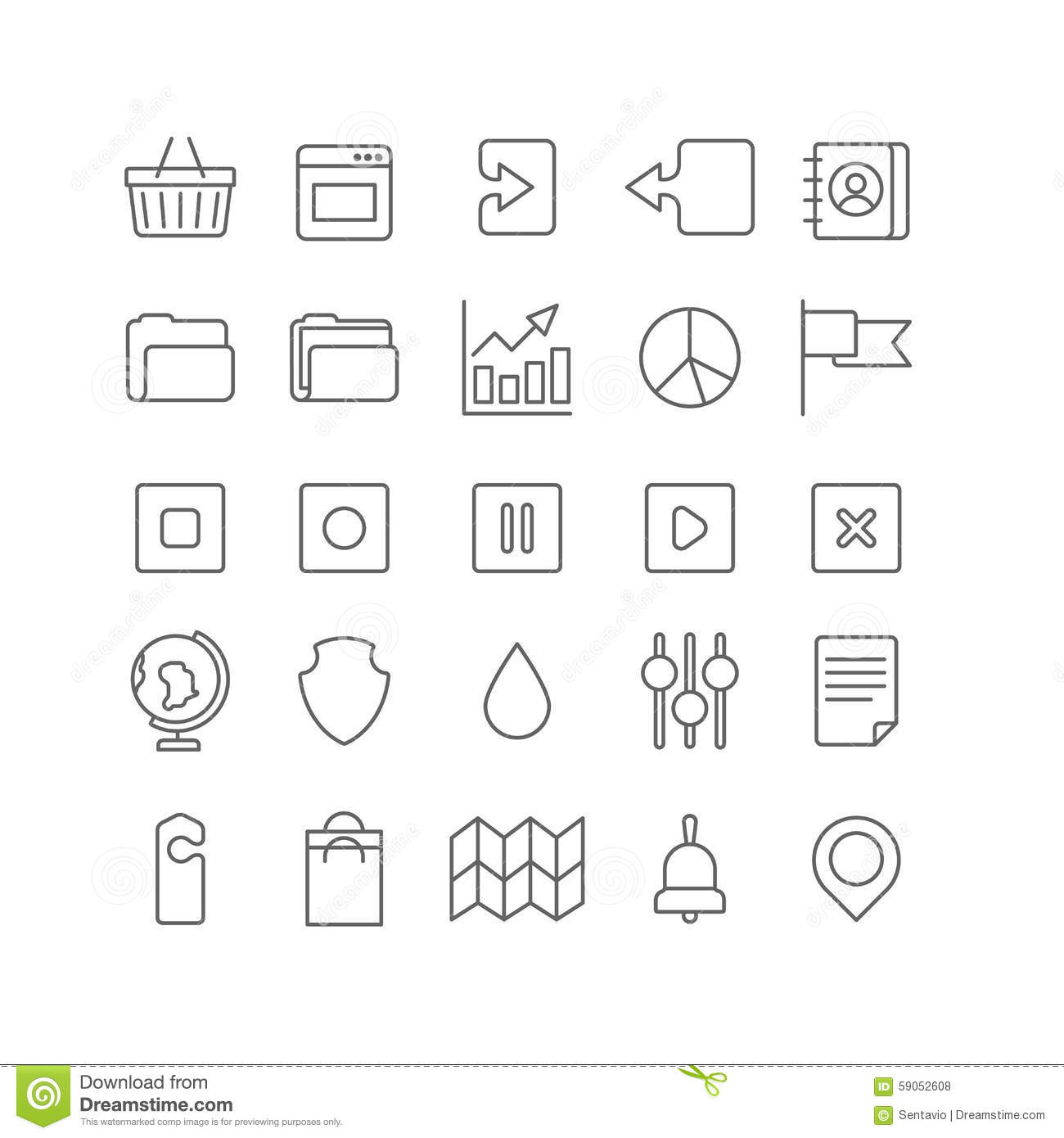 Line Art Icons : Lineart vector flat web site mobile interface app line art