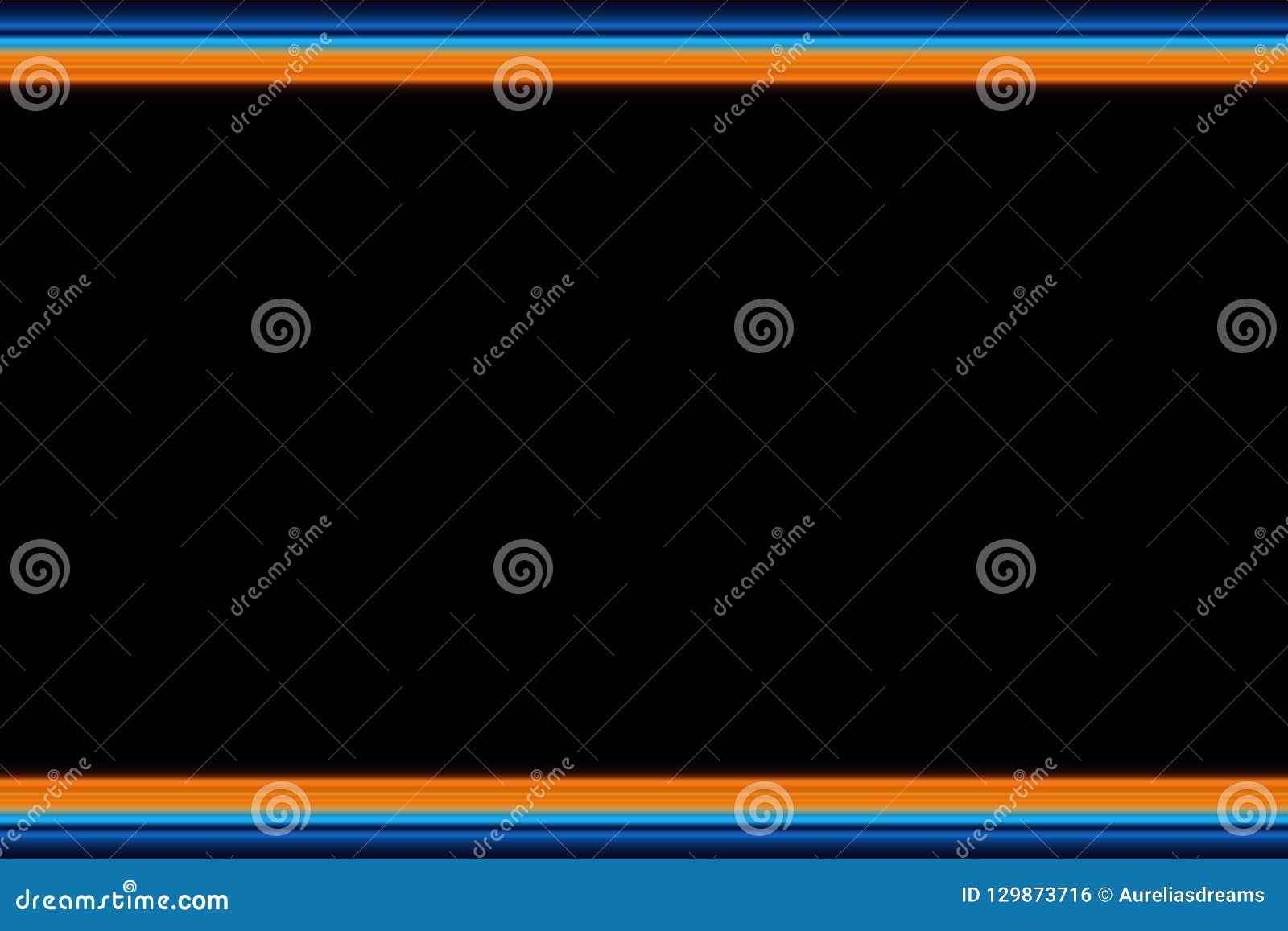 Lineas horizontales brillantes fondo, textura del extracto olorful del ¡de Ð en tonos anaranjados y azules