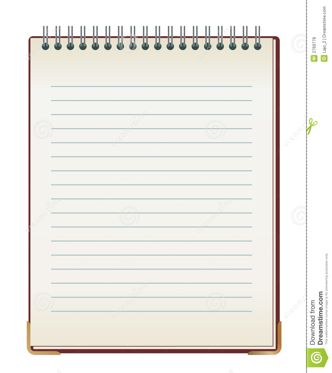 Lined Note Pad Royalty Free Stock Photos - Image: 2769778