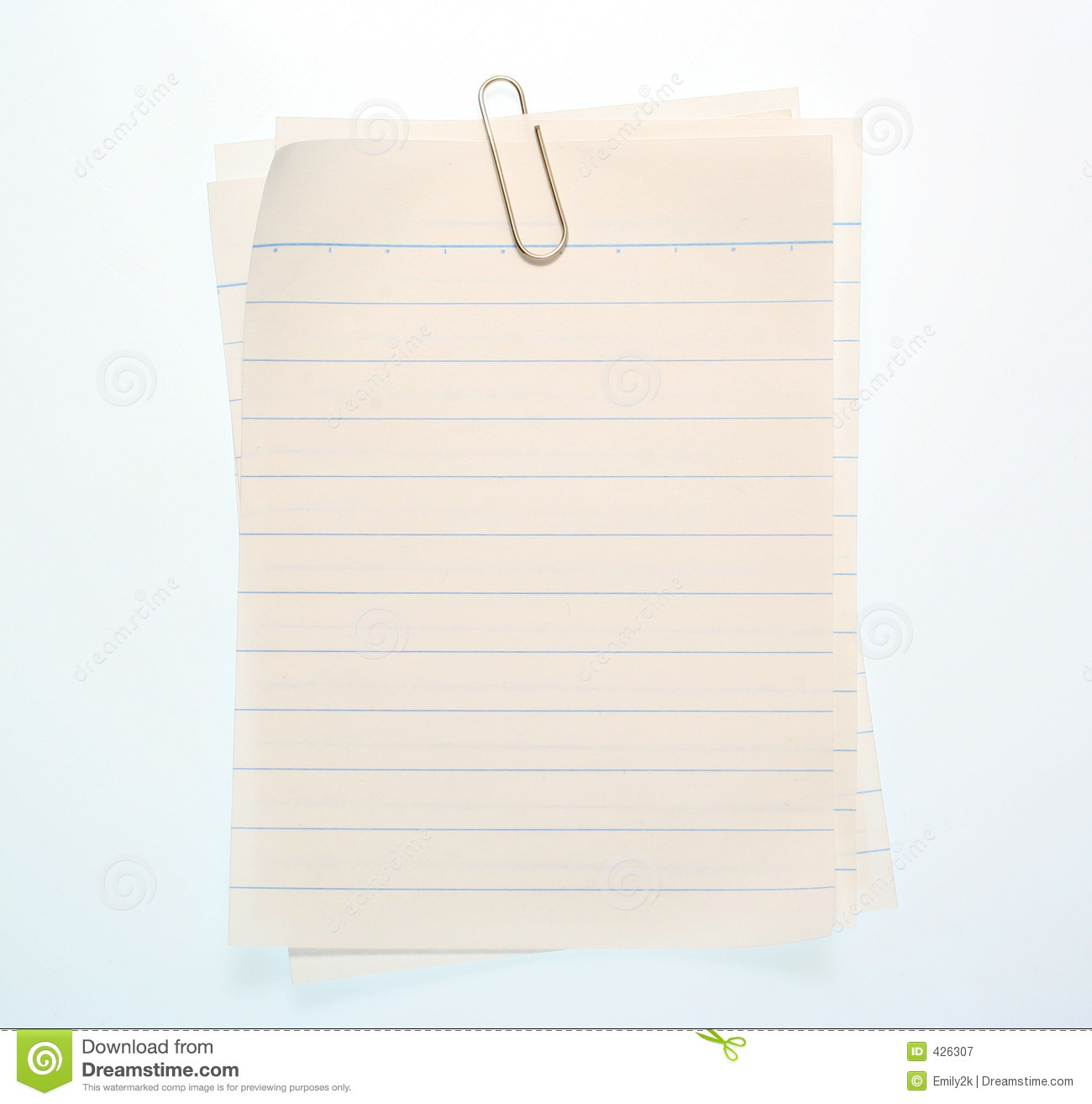Royalty Free Stock Photography: Lined Notebook Paper