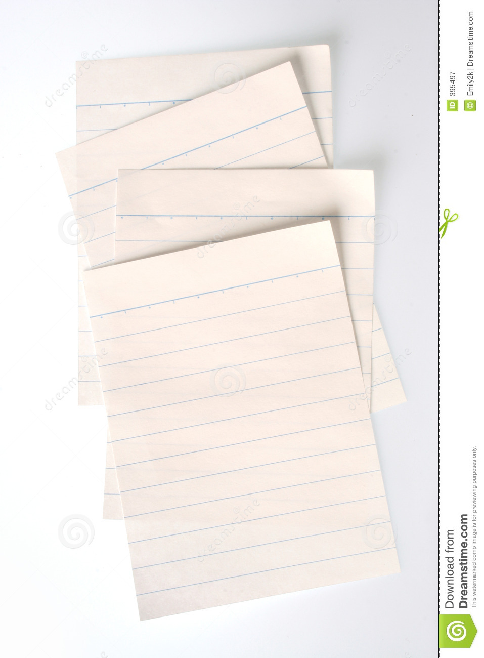 Lined Notebook Paper Lined notebook paper (with