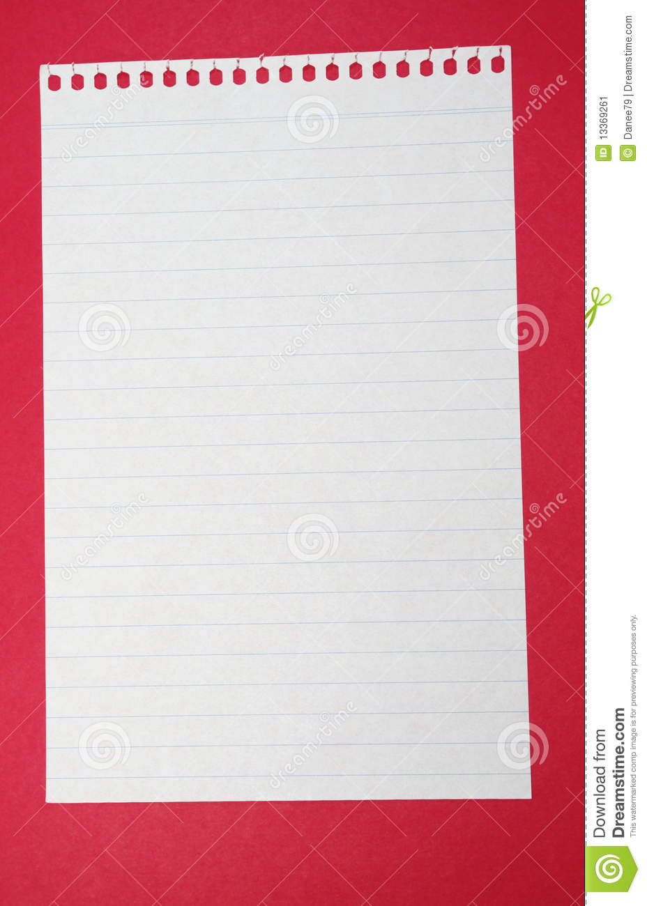 Download Lined paper stock image. Image of writing, wrote, letter - 13369261