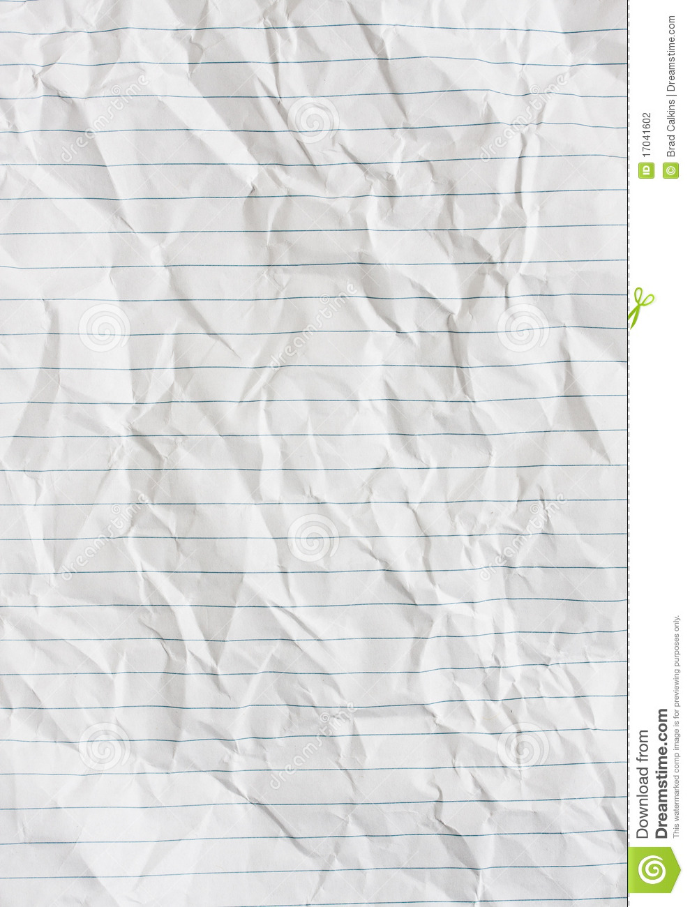 lined paper stock photo. image of crumple, notebook, wrinkled - 17041602