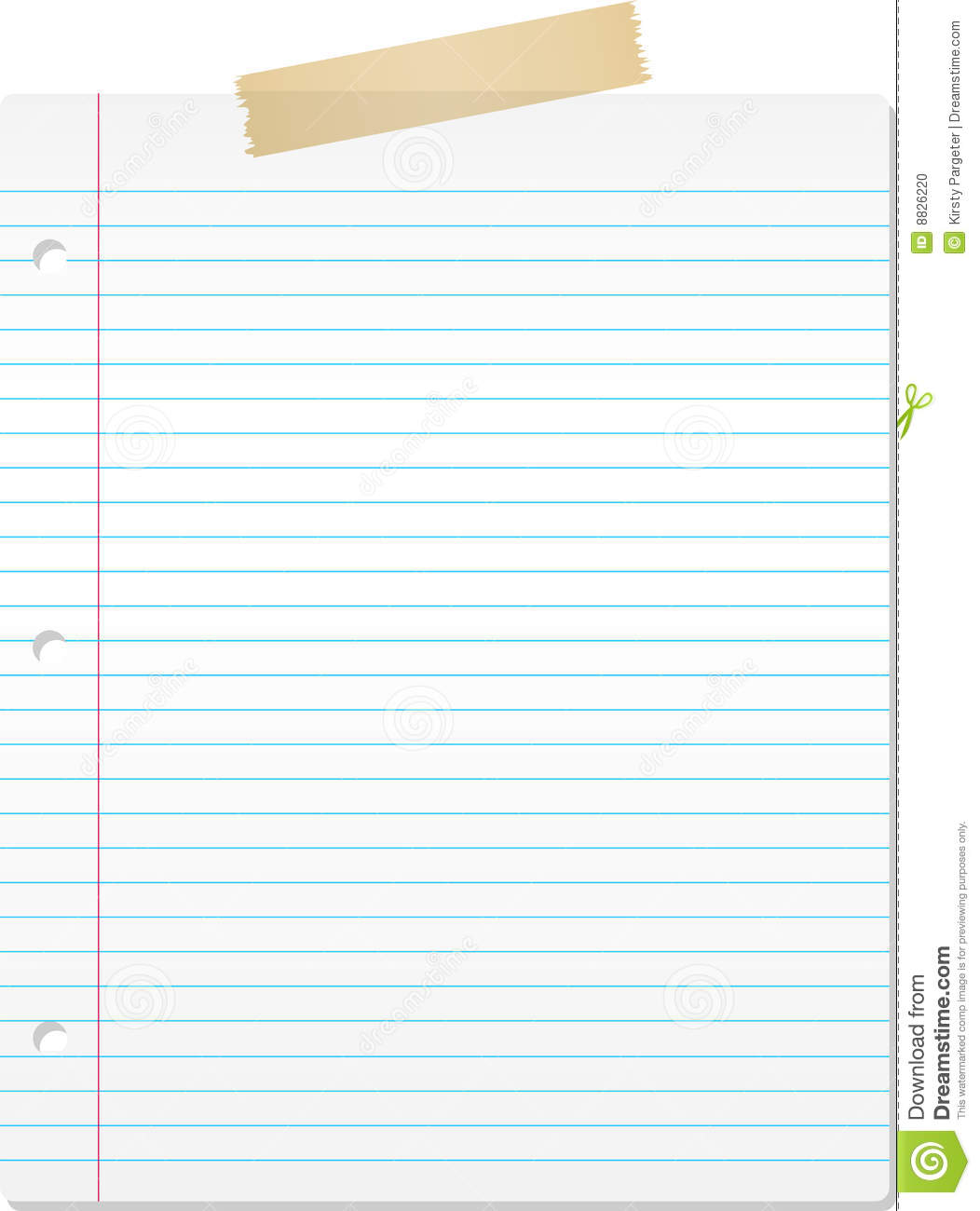 Lined Paper  Microsoft Word Lined Paper Template