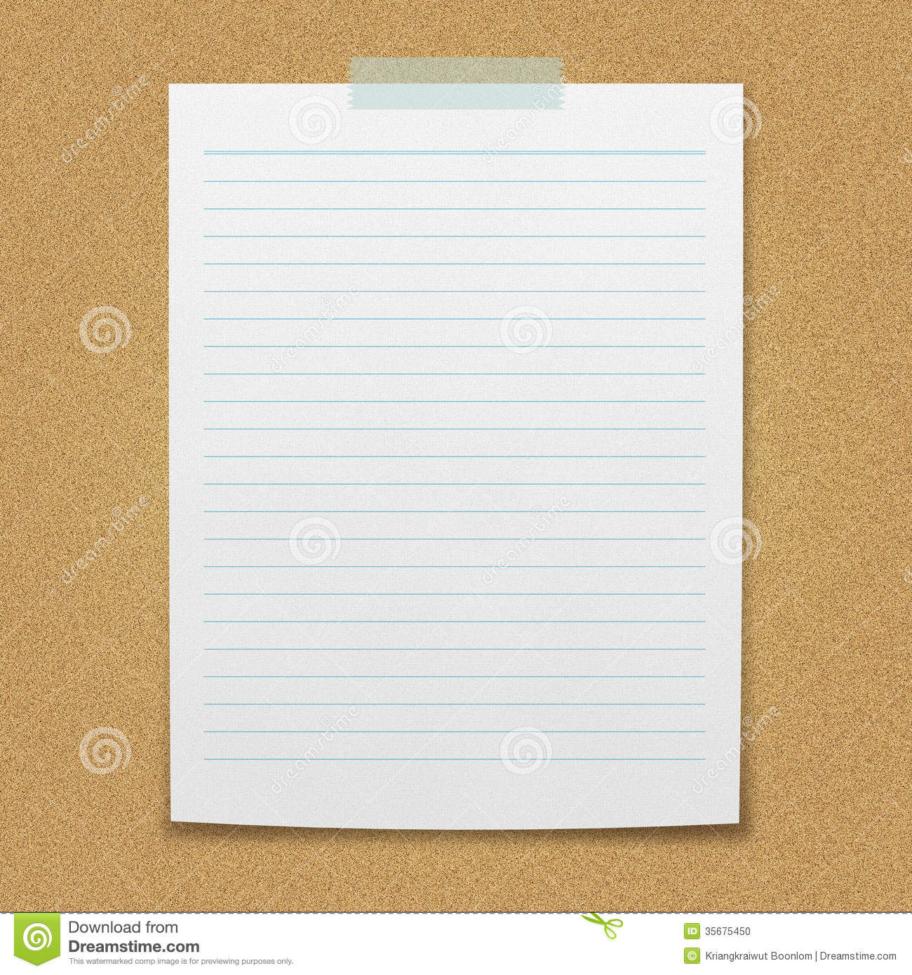 Blank Piece Of Lined Paper Lined paper sheet. for your