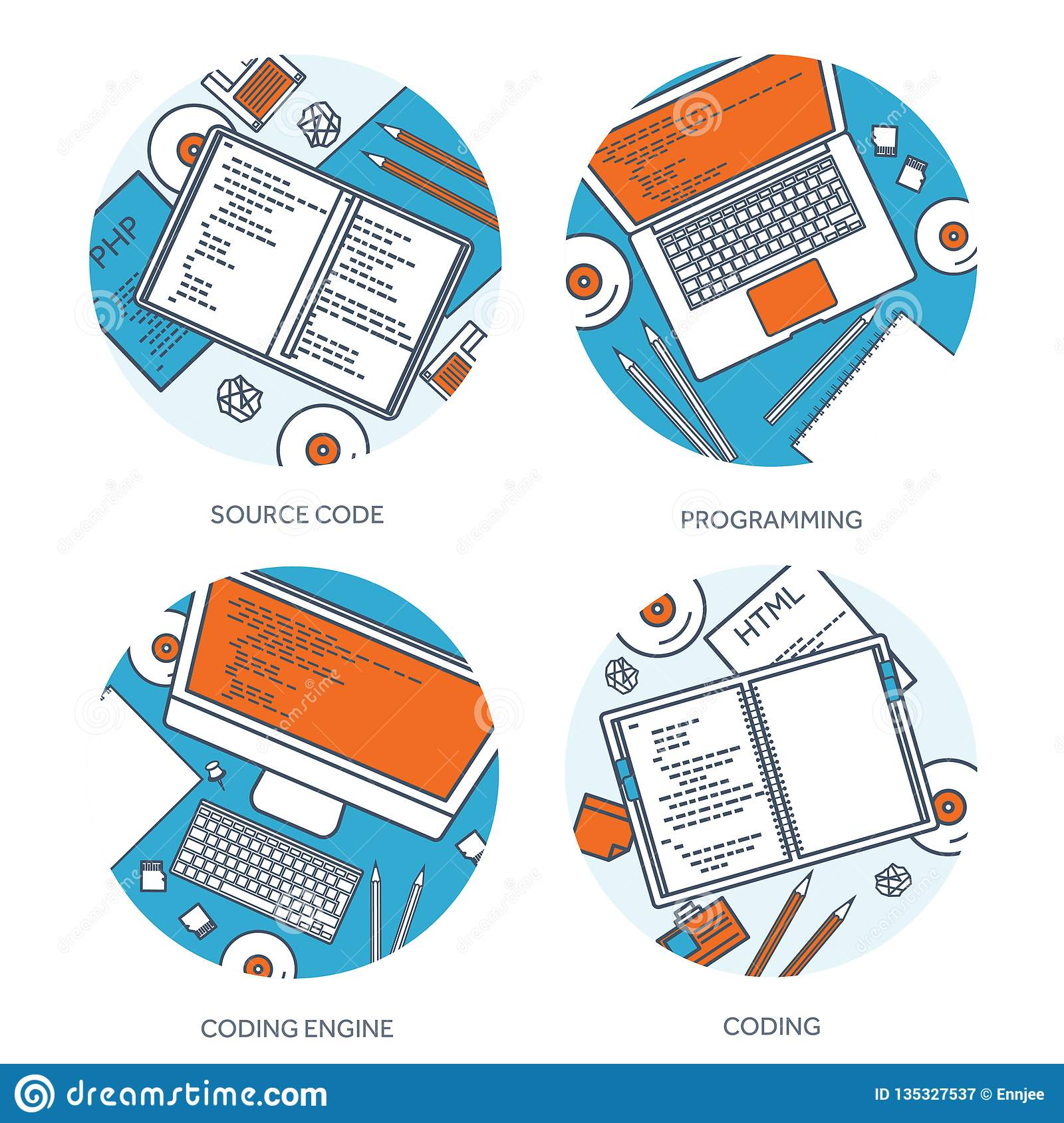 Lined programming,coding and SEO. Outline computing background. Code, hardware software. Web development. Search engine