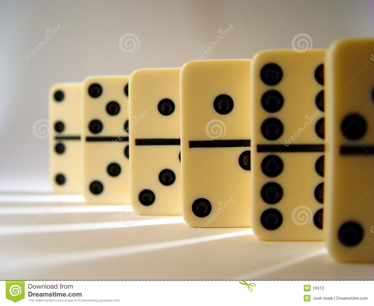 Lined Up Dominos