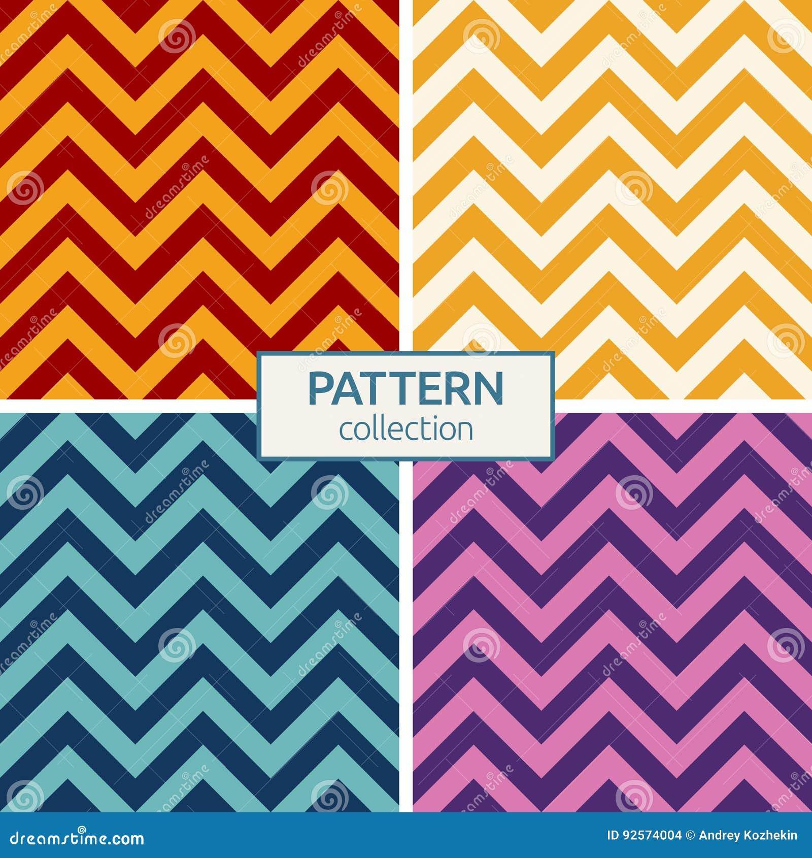 Linee di colore di zigzag modelli senza cuciture