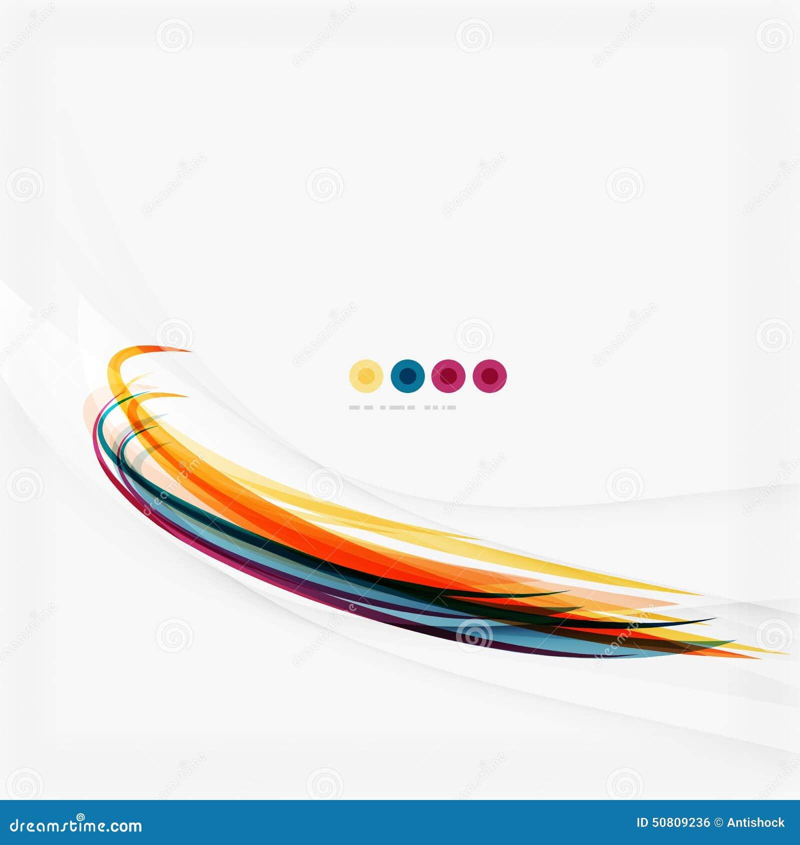 Linee di colore porpora ed arancio su bianco