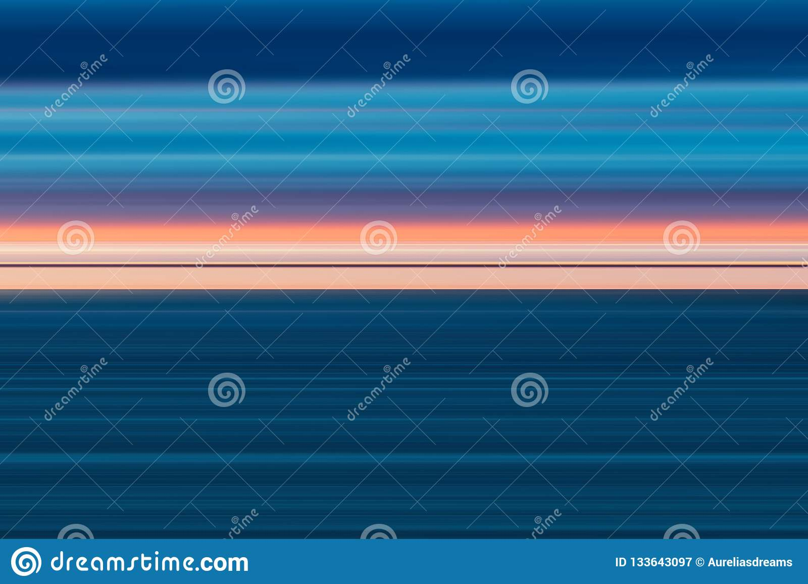 Linee luminose astratte variopinte fondo, struttura a strisce orizzontale nel rosa e toni blu