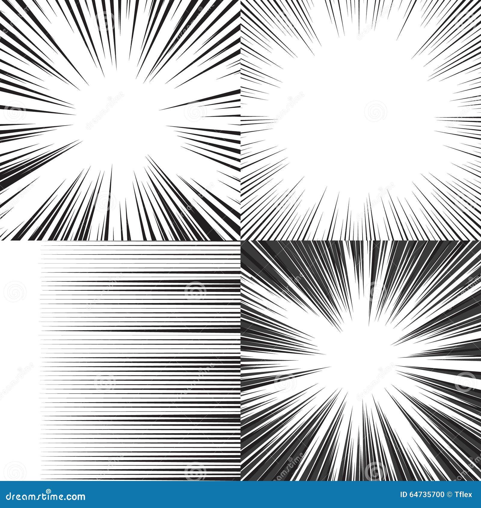 Linee orizzontali fondo di velocità del libro di fumetti