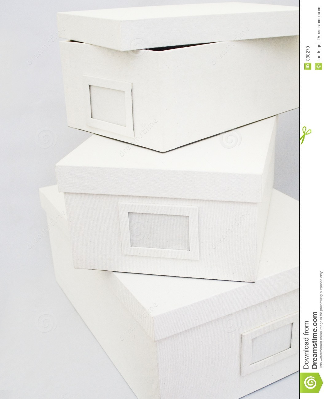 Charmant Download Linen Storage Boxes Stock Photo. Image Of White, Filing   898270