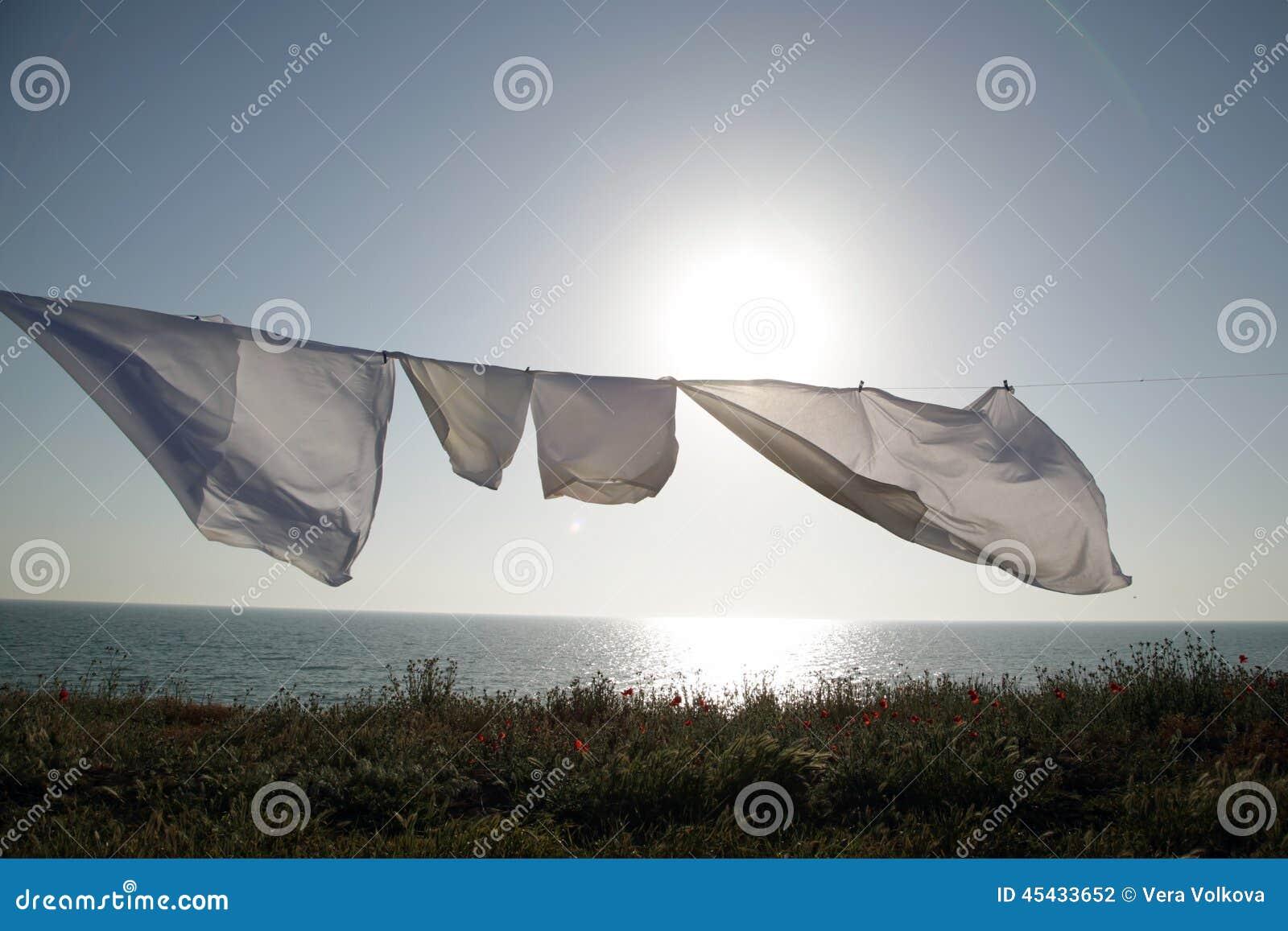 Linens dries in the fresh air