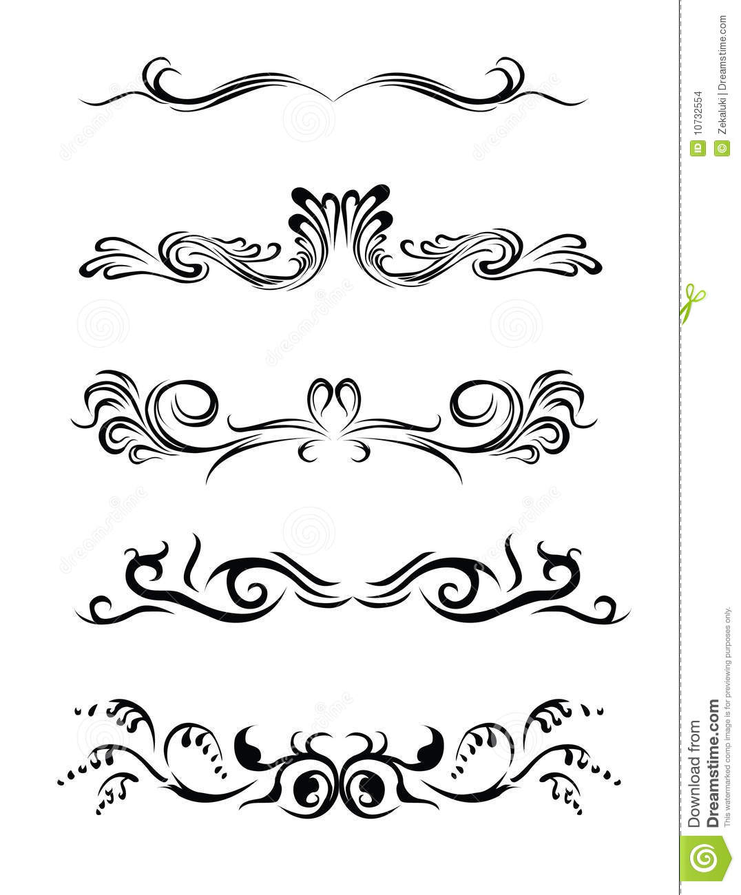 Lines Design Elements Of Different Styles Stock Images