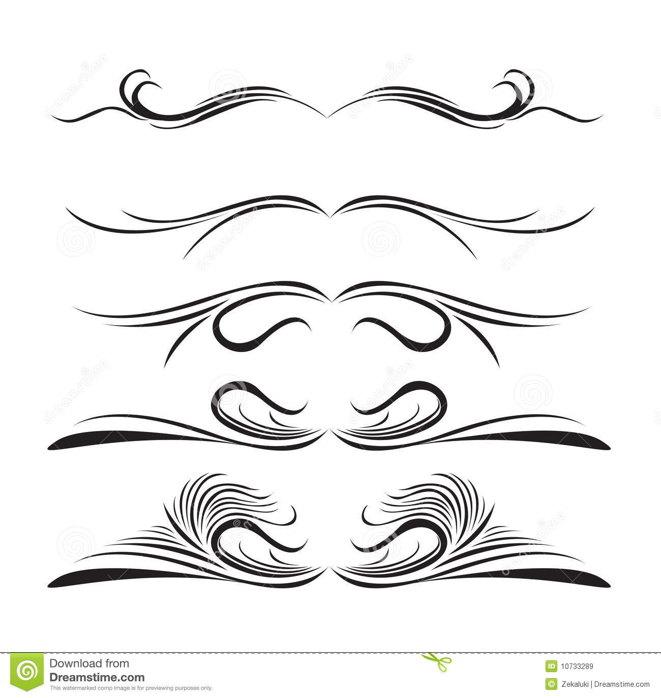 Line With Design : Lines design elements of different styles royalty free