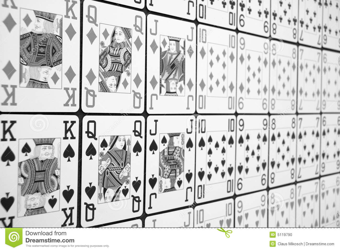 Download Lines of Pokercards stock photo. Image of poker, spade - 5119790