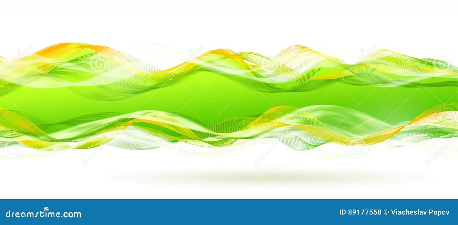 Lines shiny green mosaic