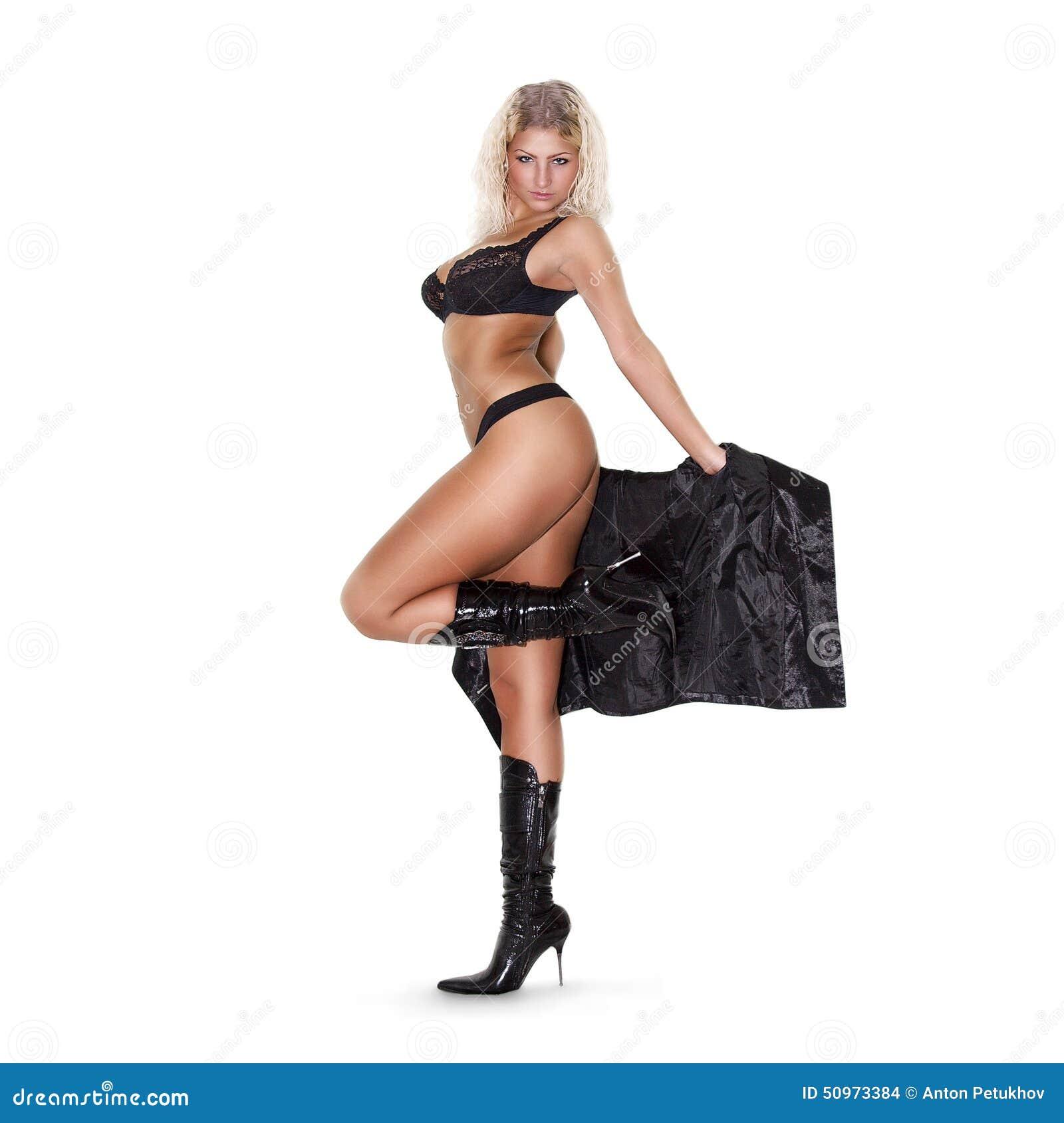 lingerie de femme et bottes talons hauts photo stock image du exotique fille 50973384. Black Bedroom Furniture Sets. Home Design Ideas