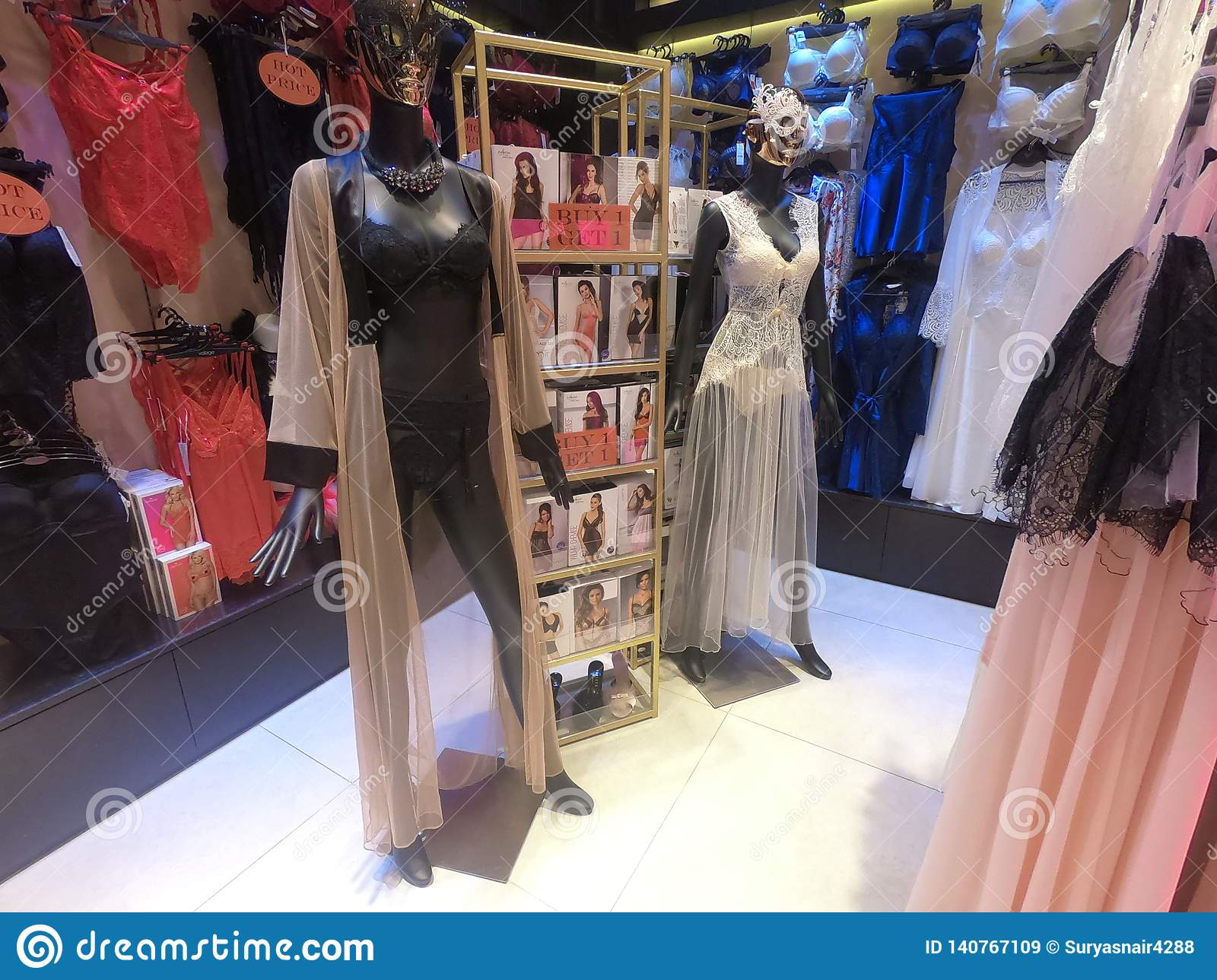 Women Lingerie Displayed on a mannequin for Sale in a Boutique Store
