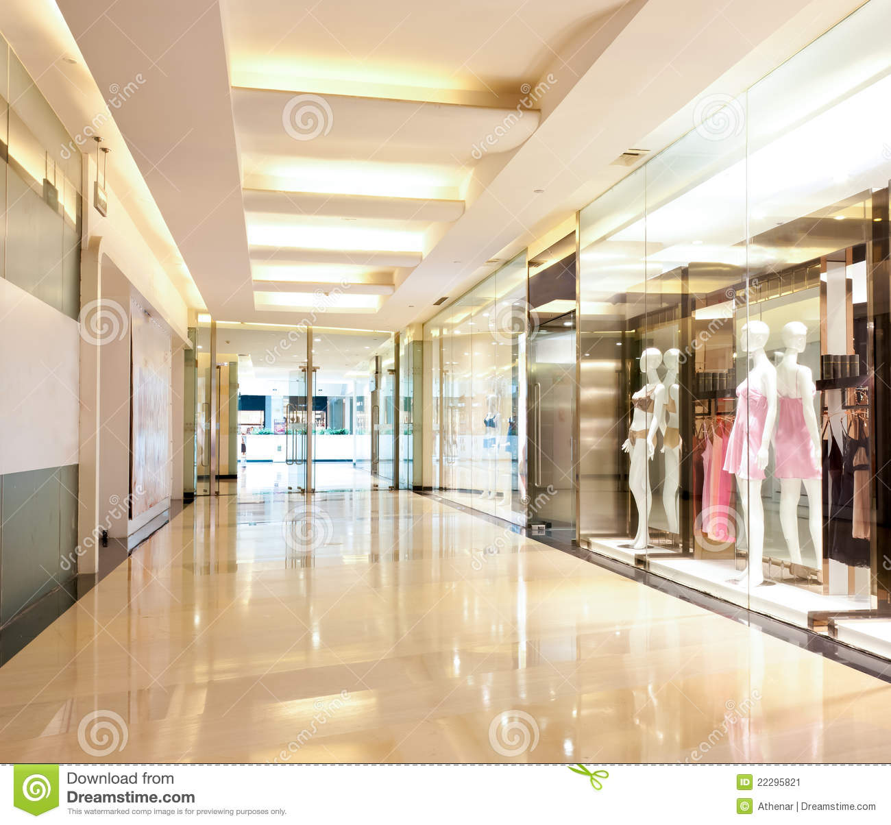 Lingerie Shop In The Mall Corridor Stock Image Image