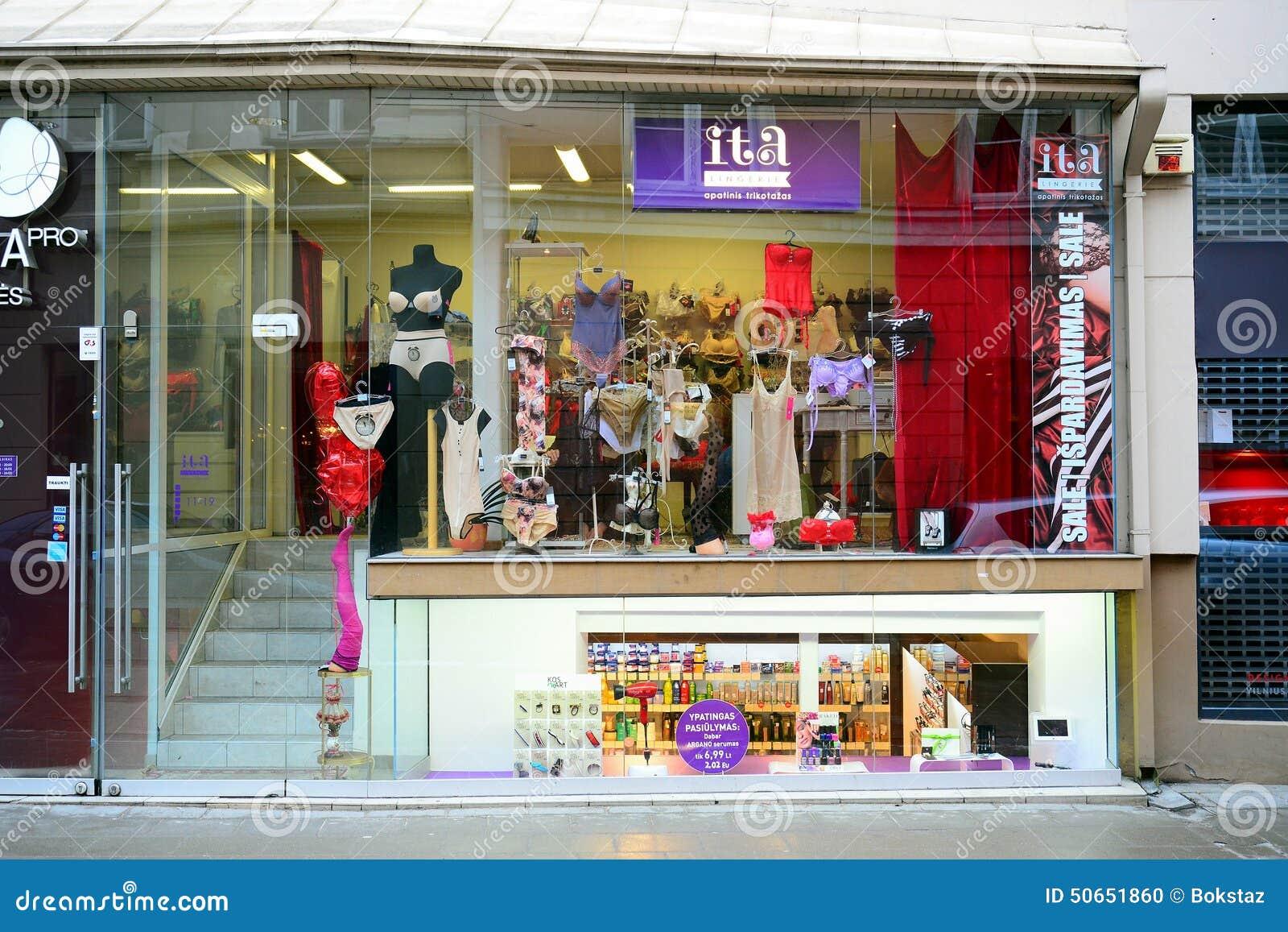 Lingerie Shop In Vilnius Old City Street Editorial Image - Image ...
