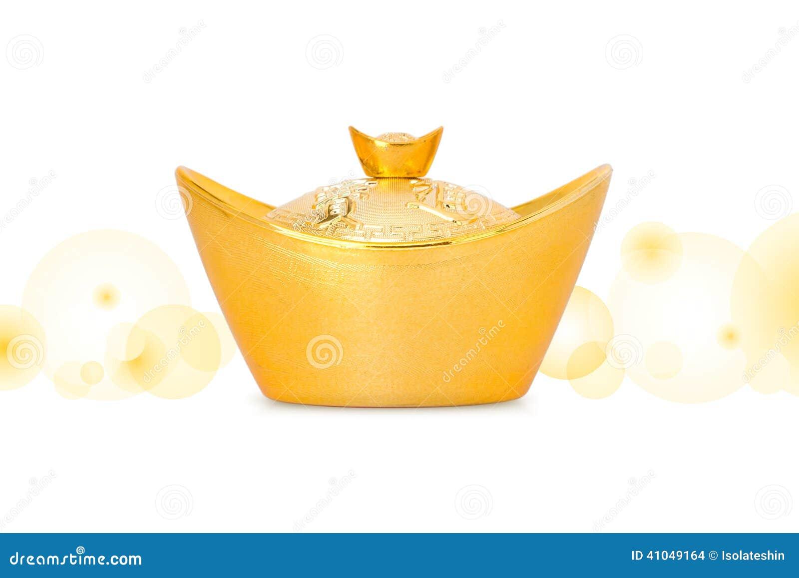 Lingote chino del oro