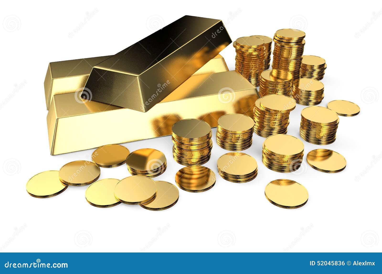 Lingots et pièces de monnaie d or