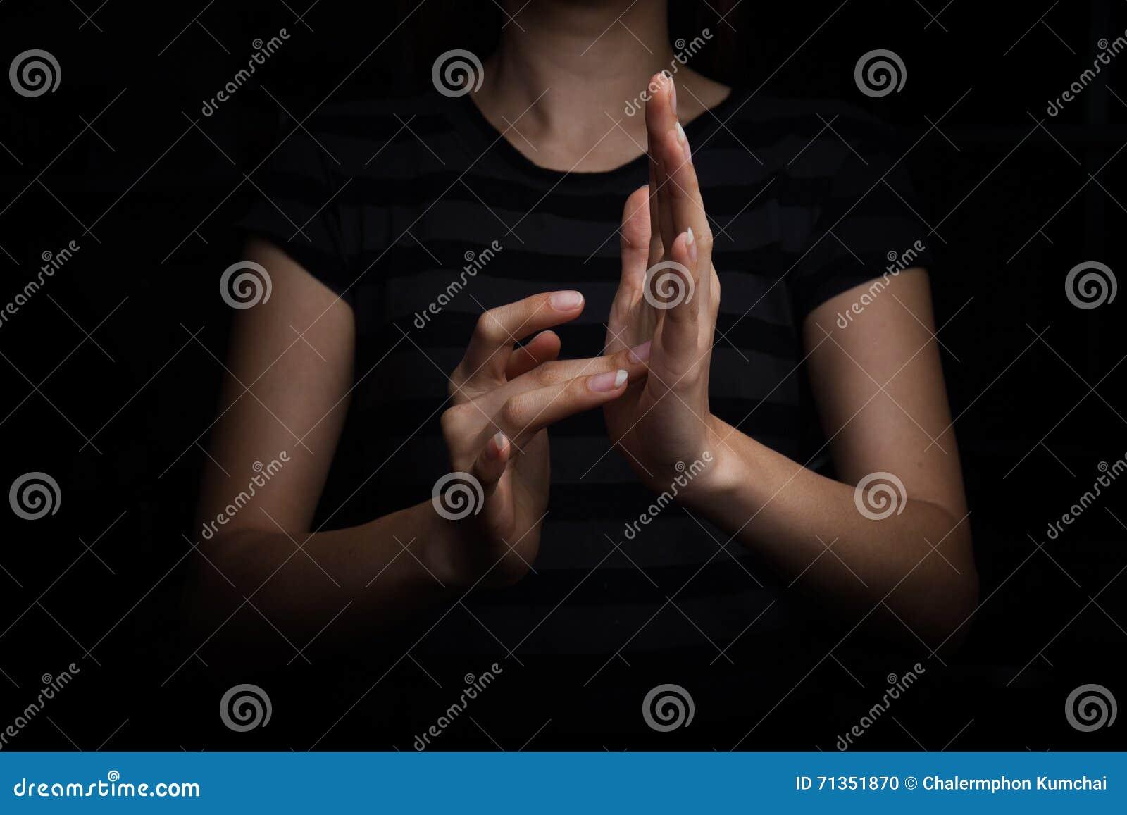Linguaggio dei segni di Gesù per il sordo